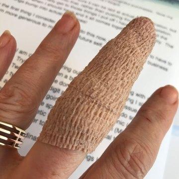 Now: Finger post stitches
