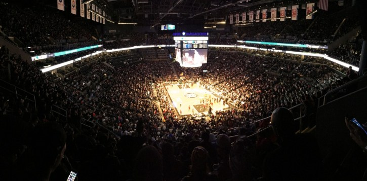 Das Barclays Center in Brooklyn