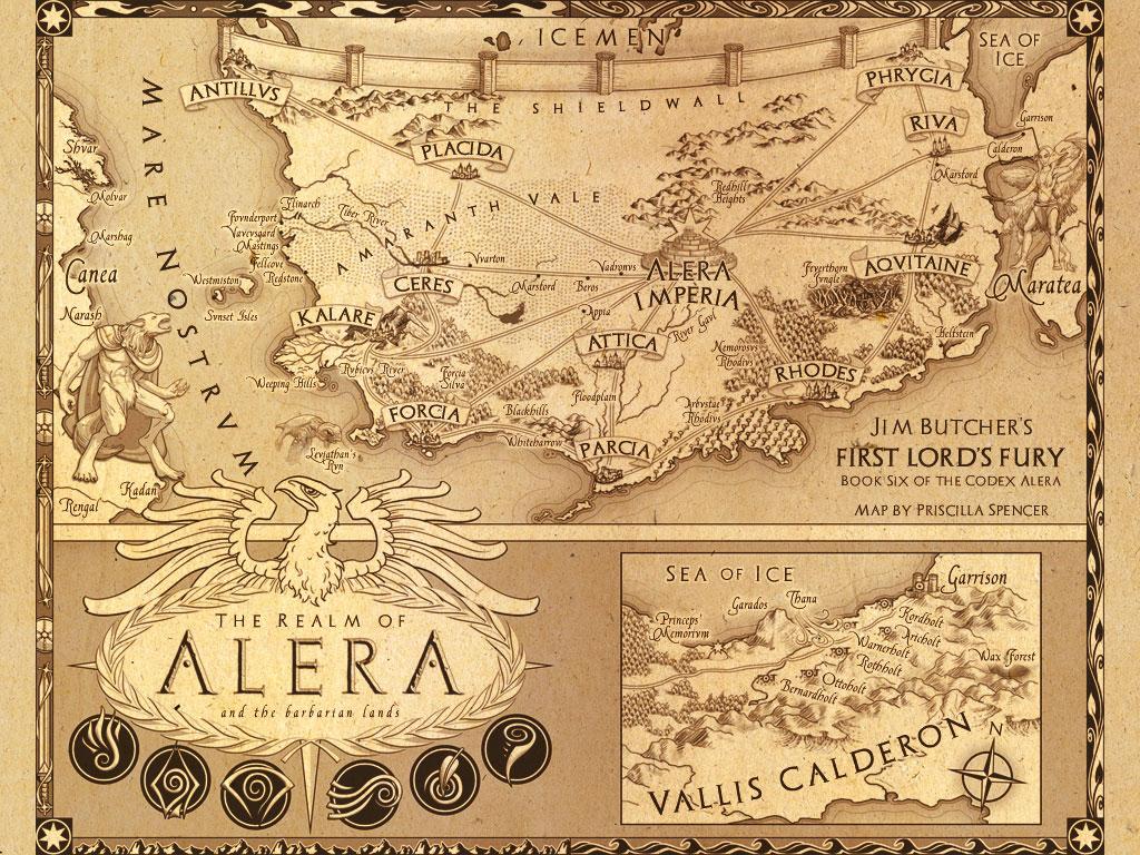Codex Alera Map Jim Butcher