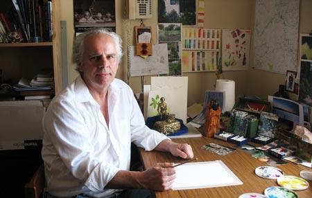 James Arnott in his Studio