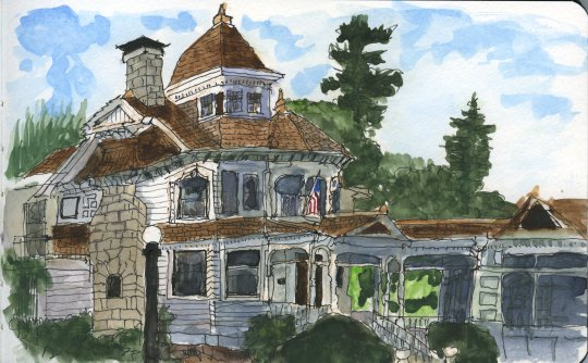 Deepwood Mansion Watercolor