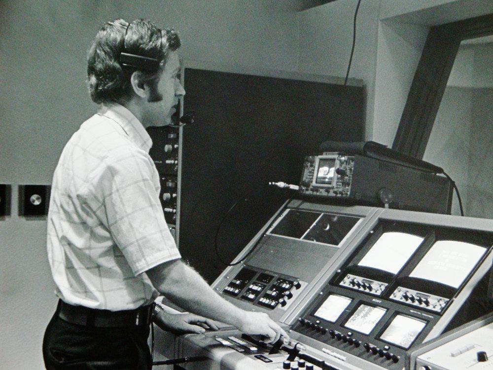 in tv studio control room
