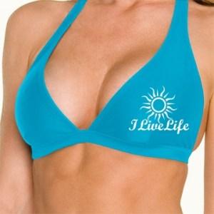 ILiveLife sun bikini top caribbean blue