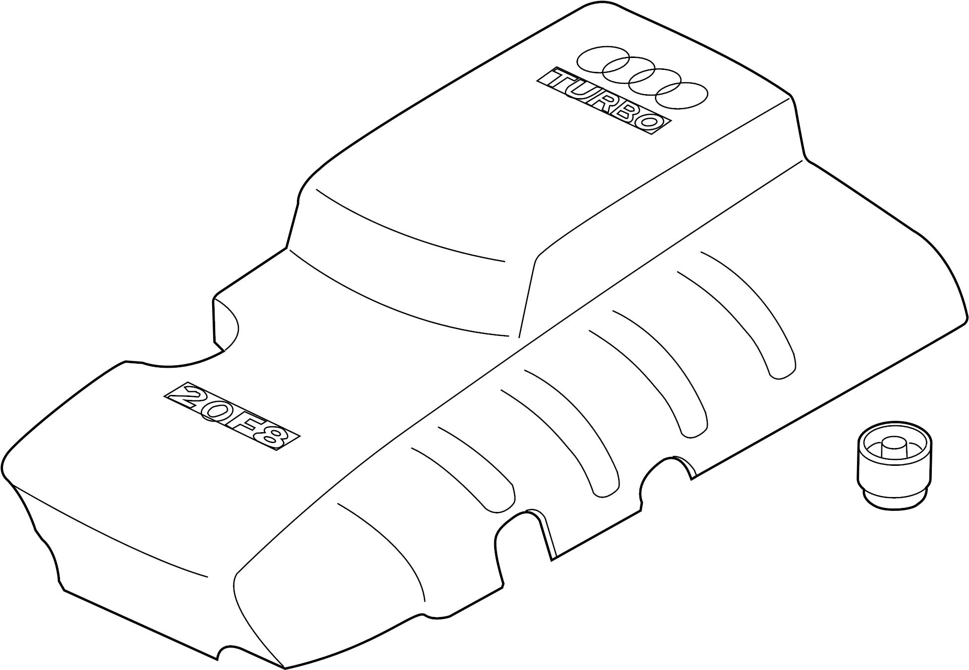 Audi A4 Quattro Cover For Intake Manifold Emission