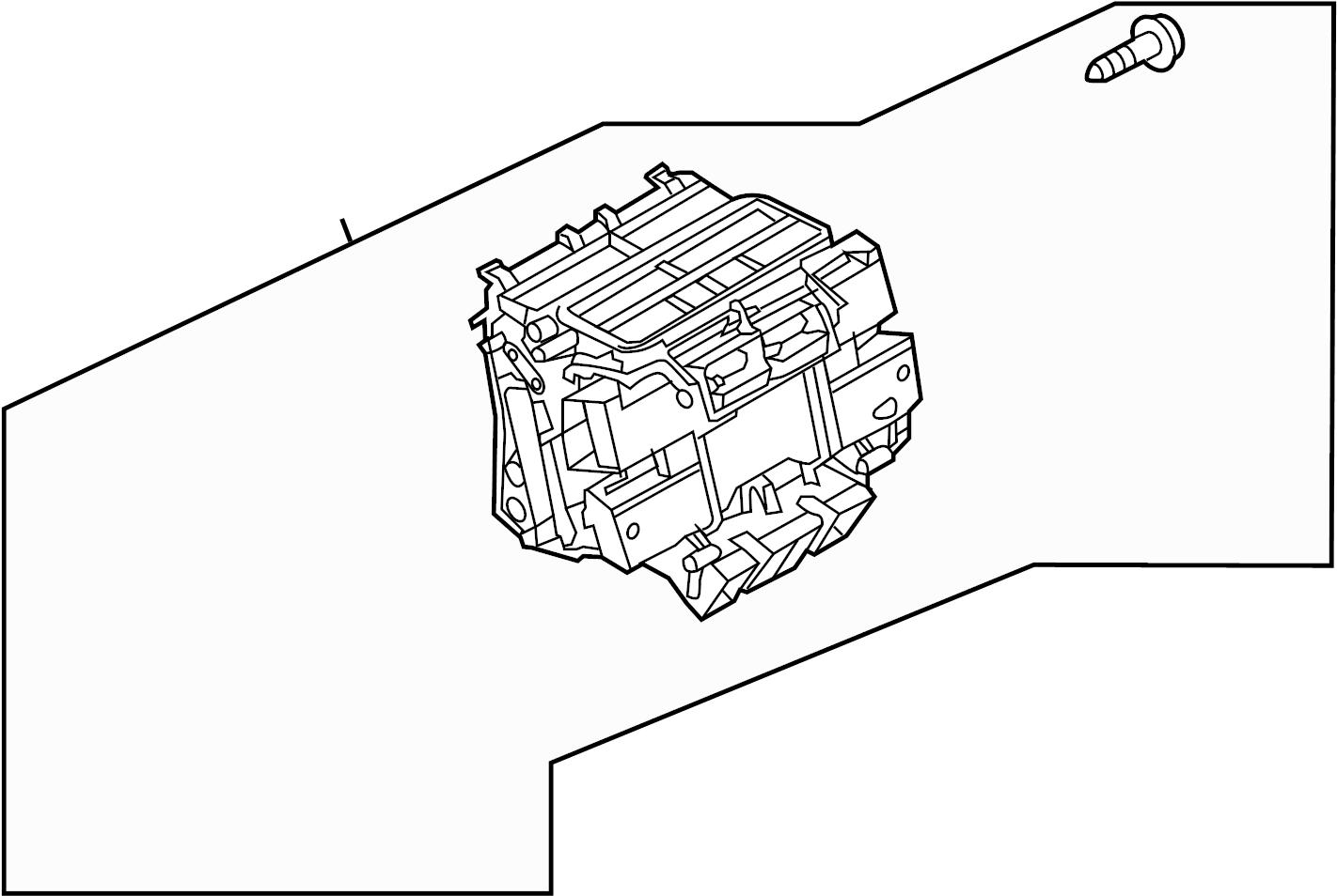 Audi A8 Housing Assy Hvac Unit Case Assembly Waux