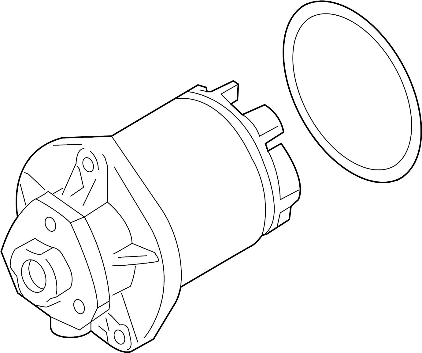 Audi Tt Roadster Water Pump With Adhesive Gasket