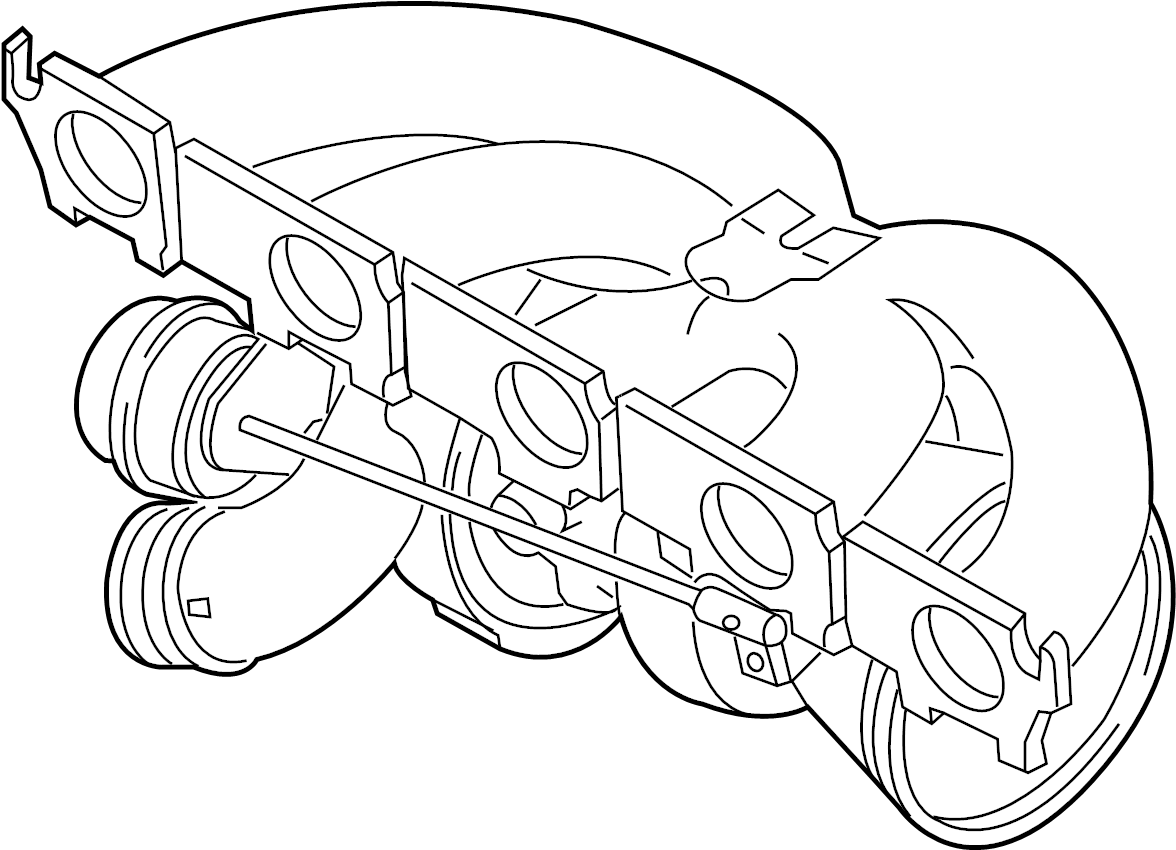 Audi Exhaust Gas Turbocharger Exhaust Manifold 2 5ltr