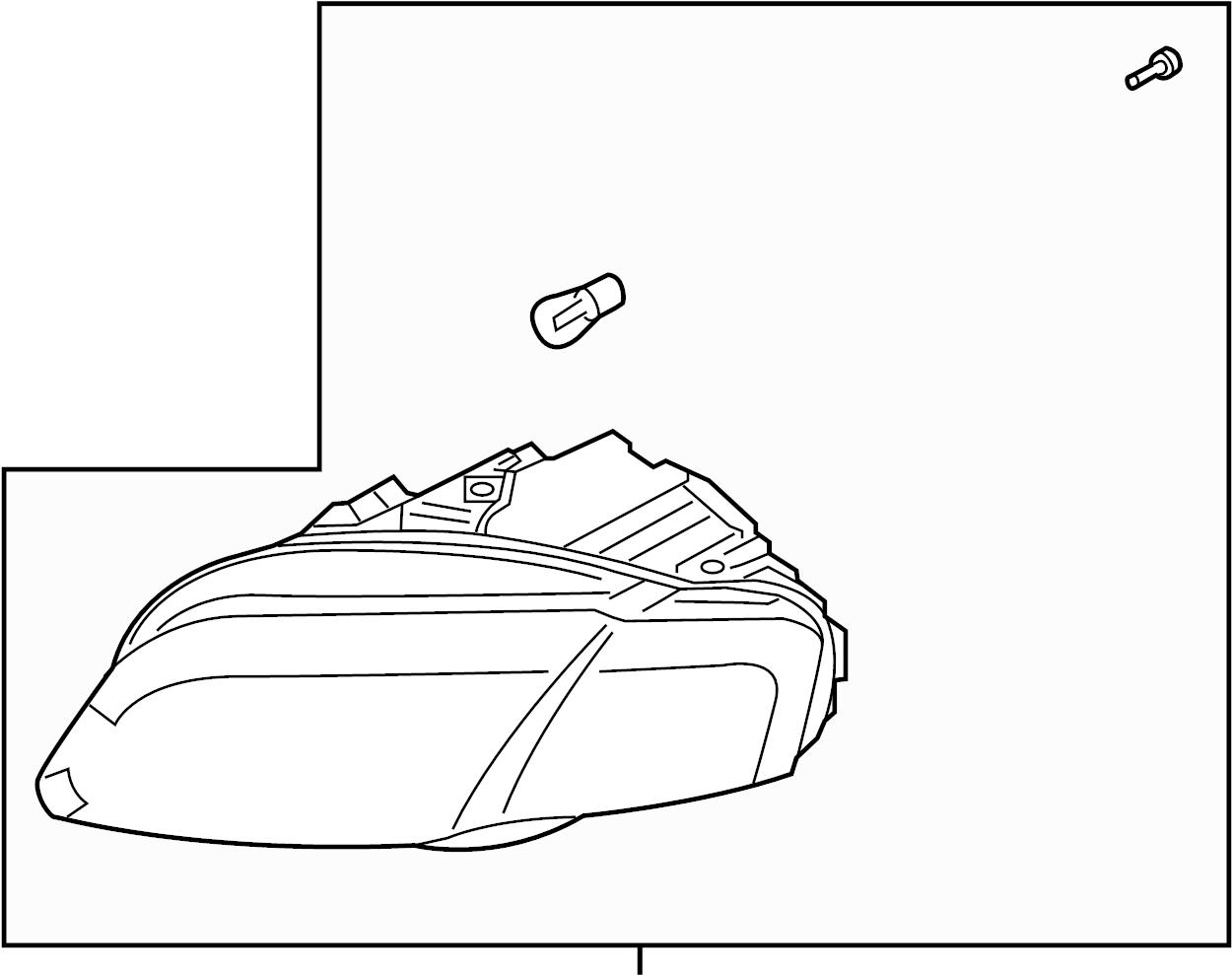 Audi A4 Quattro Avant Headlamp For Gas Discharge Bulb