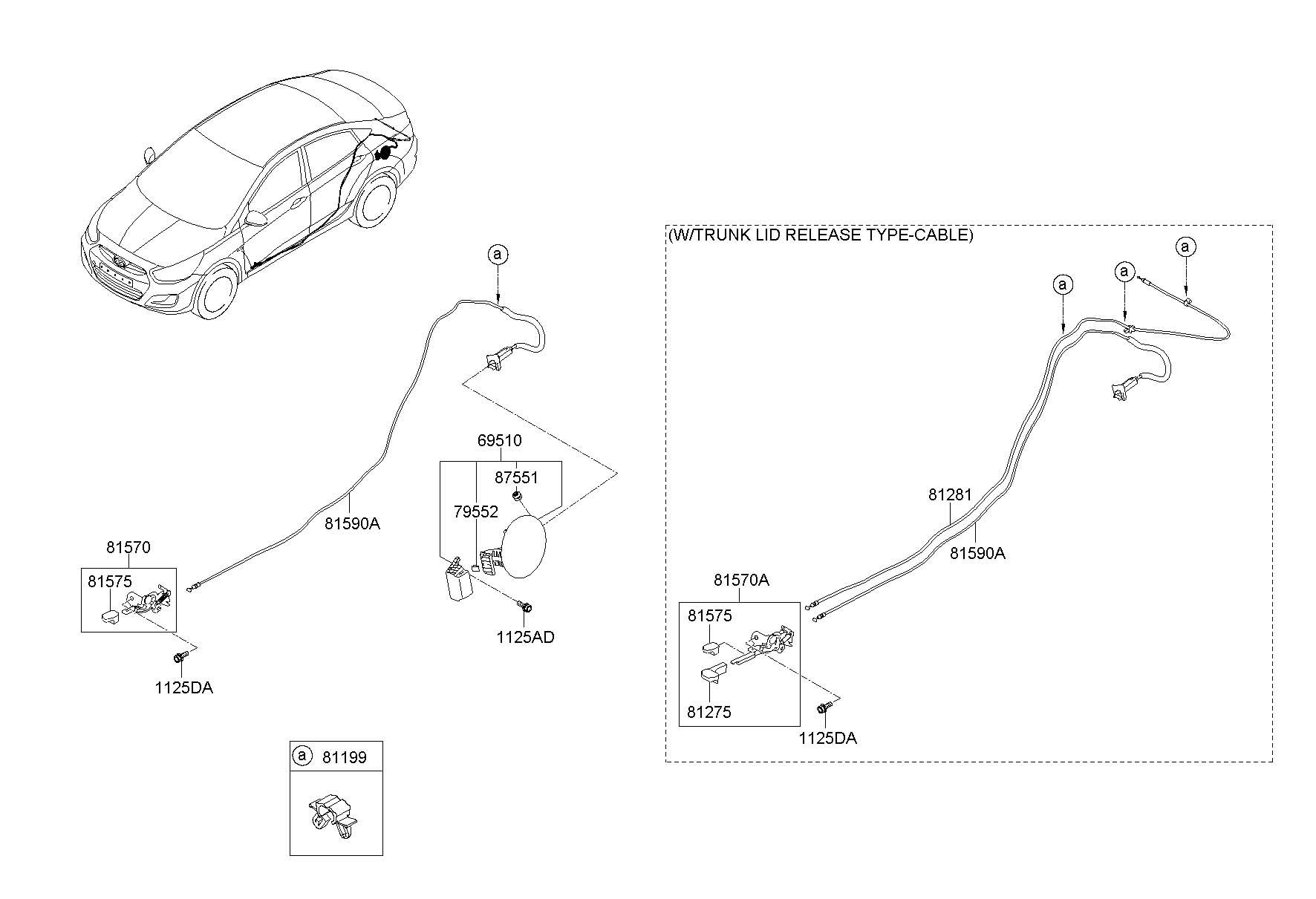 Hyundai Sonata Fuel Door Diagram