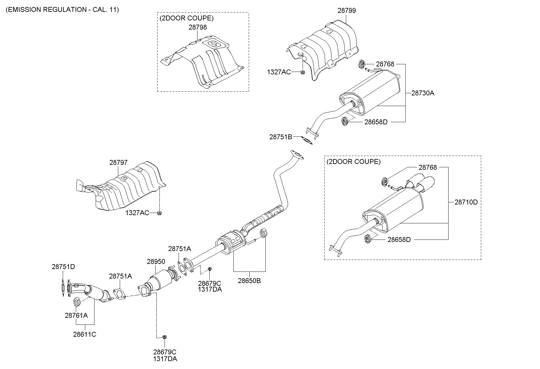 33 Hyundai Elantra Exhaust System Diagram