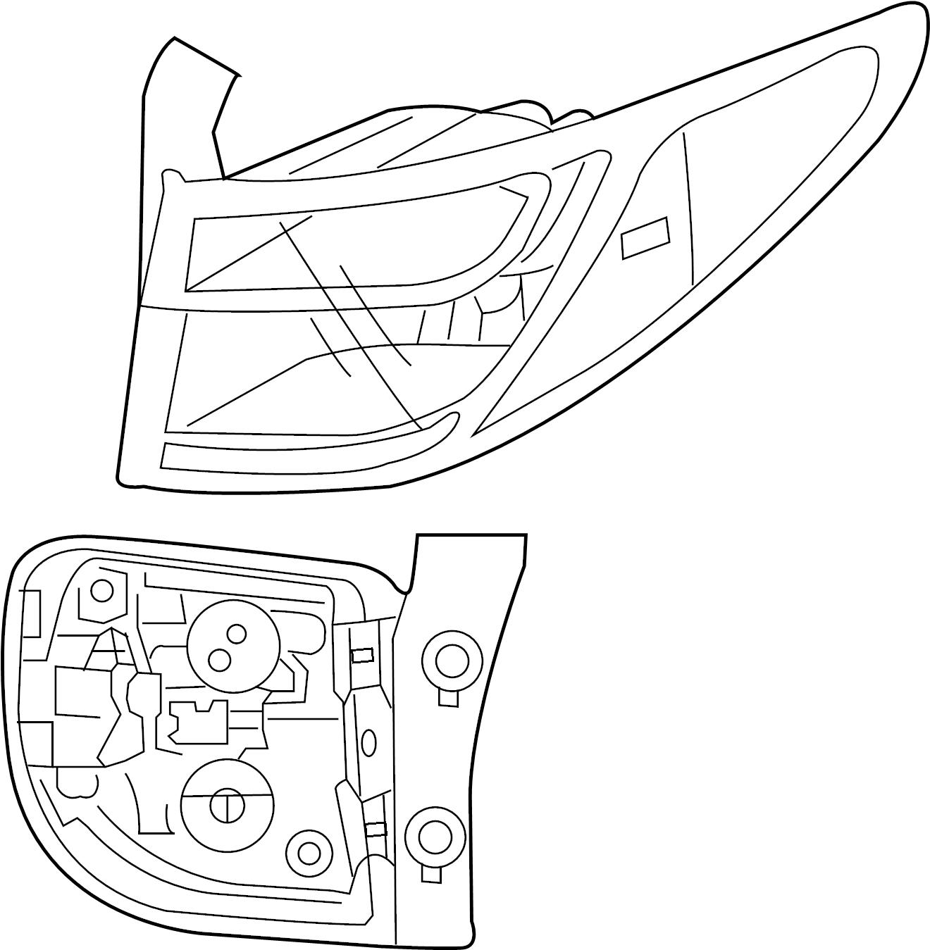 Hyundai Santa Fe Tail Lamp Assy Tail Light Assembly Wled