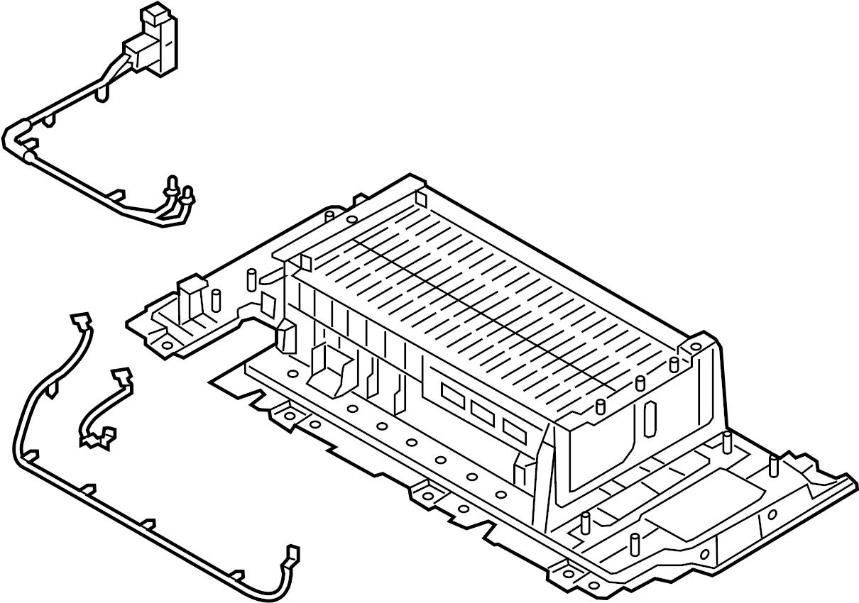 Hyundai Sonata Battery Module Amp Saf Plug Assembly