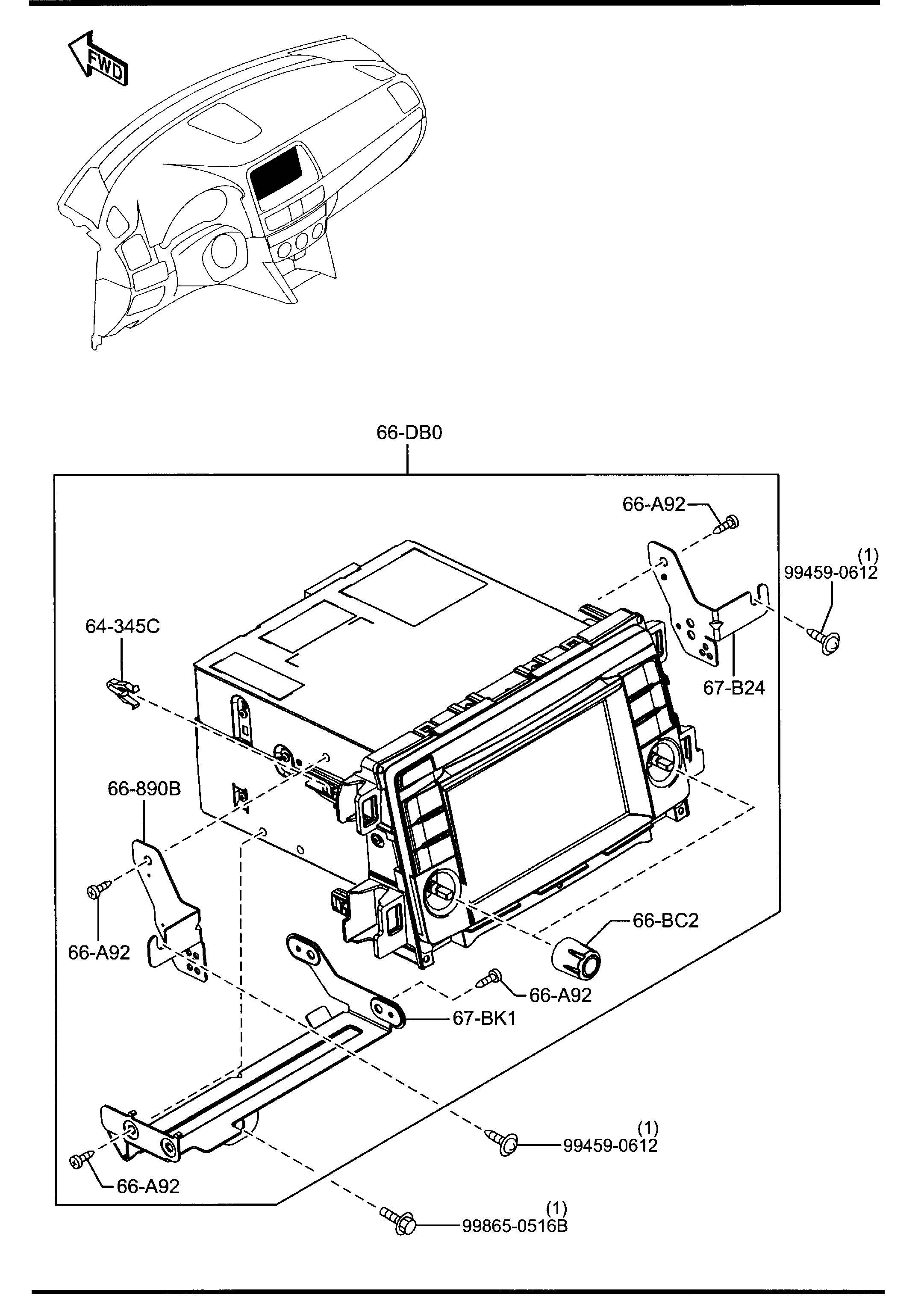 Mazda Cx 5 Antenna G P S Gps Communication