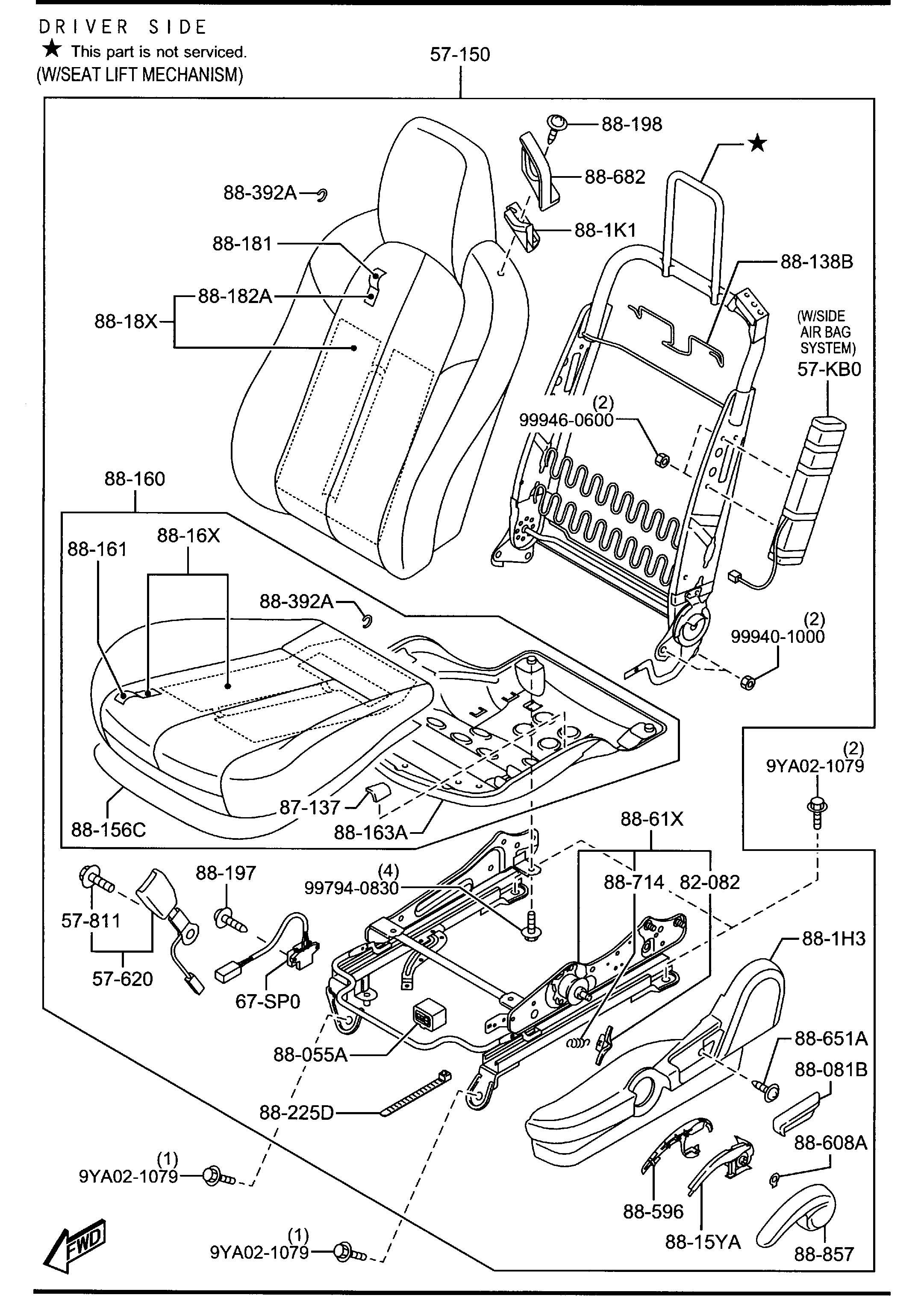 Mazda Miata Holder Cable