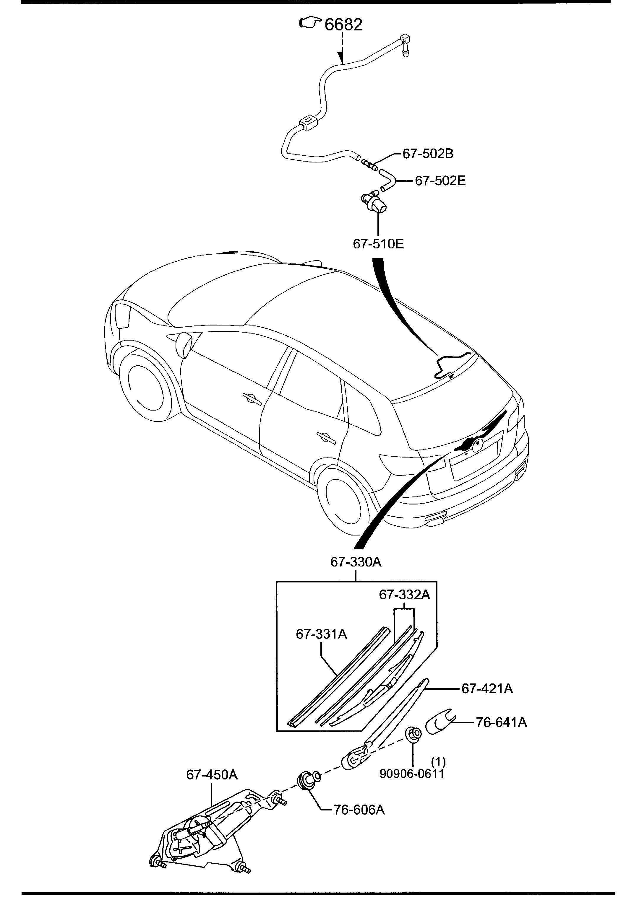 Mazda Cx 9 Cover Wiper Arm