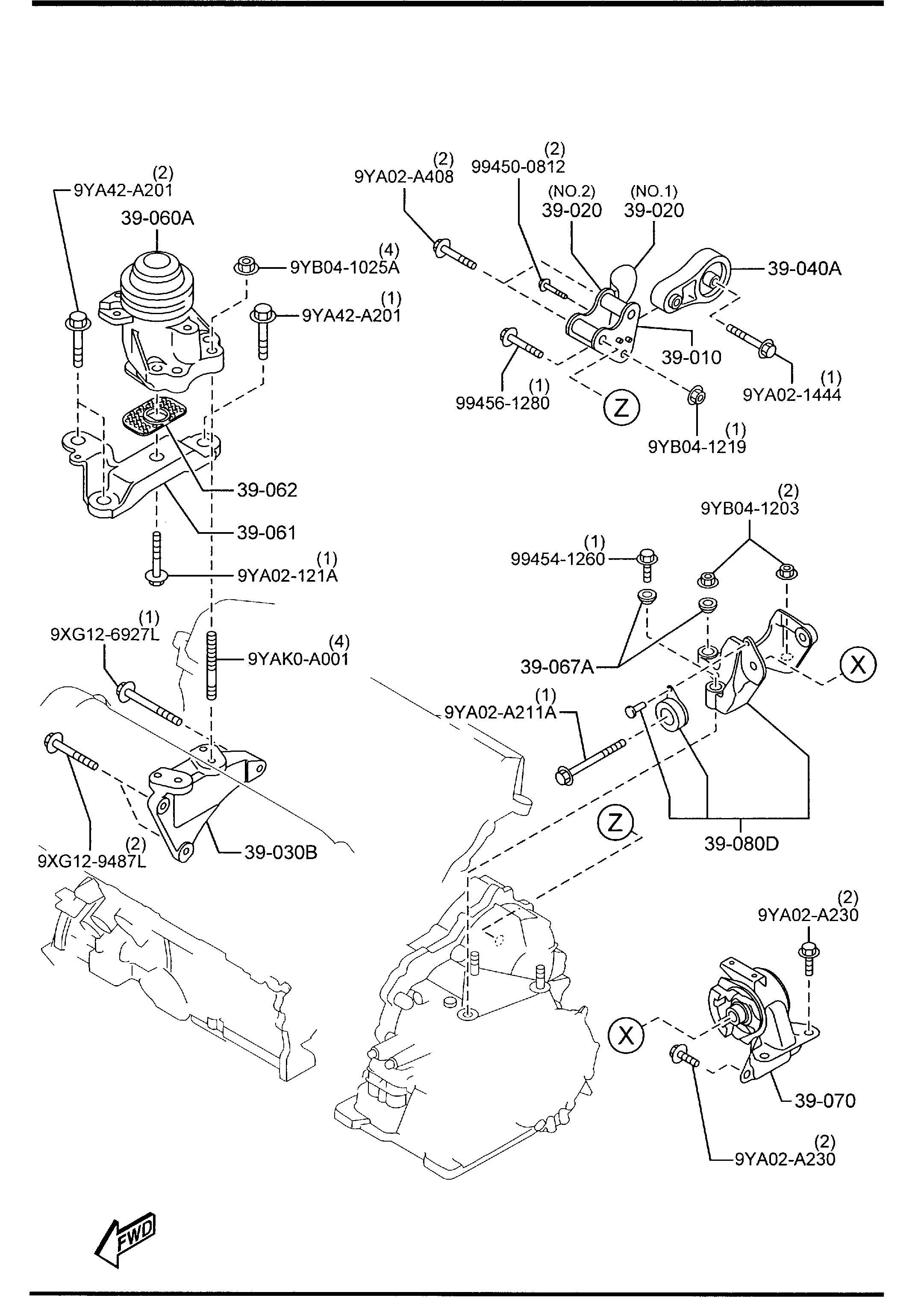 Mazda Cx 9 Bracket No 4 Engine Mount Brkt