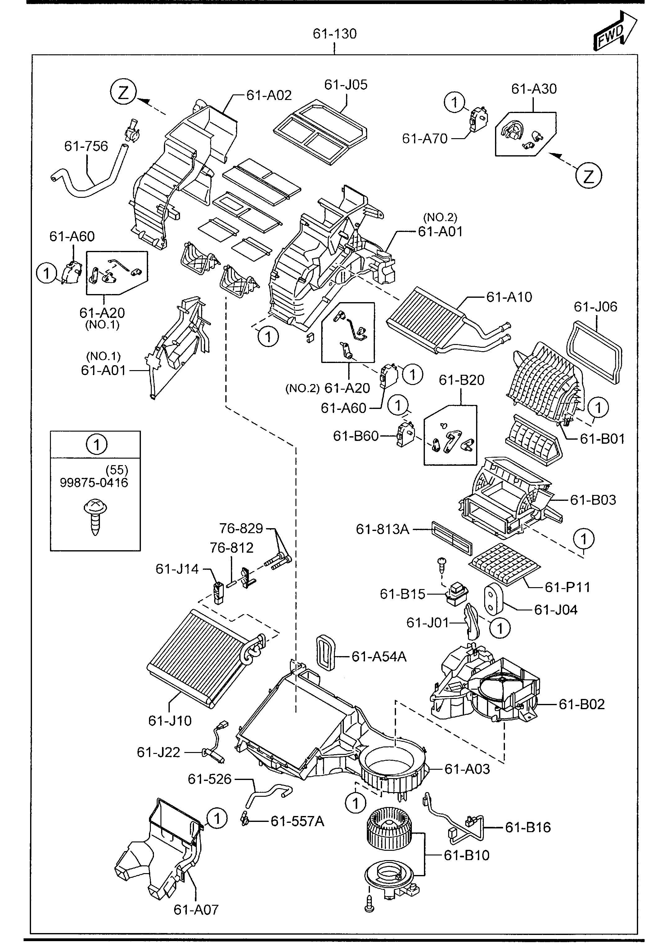 Mazda Cx 9 Resistor Blower Unit Evaporator