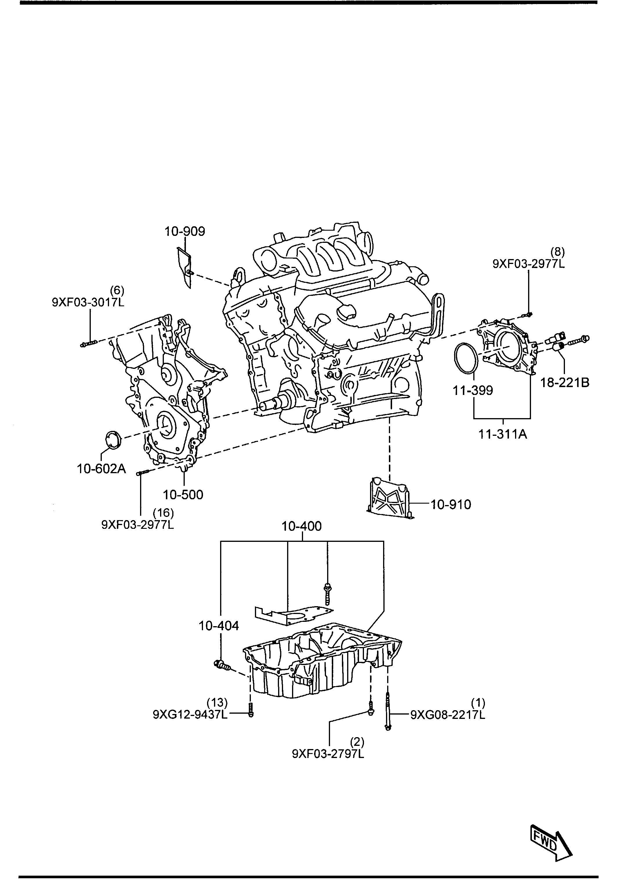 Mazda Cx 9 Engine Crankshaft Seal 3 7 Liter Cx 9