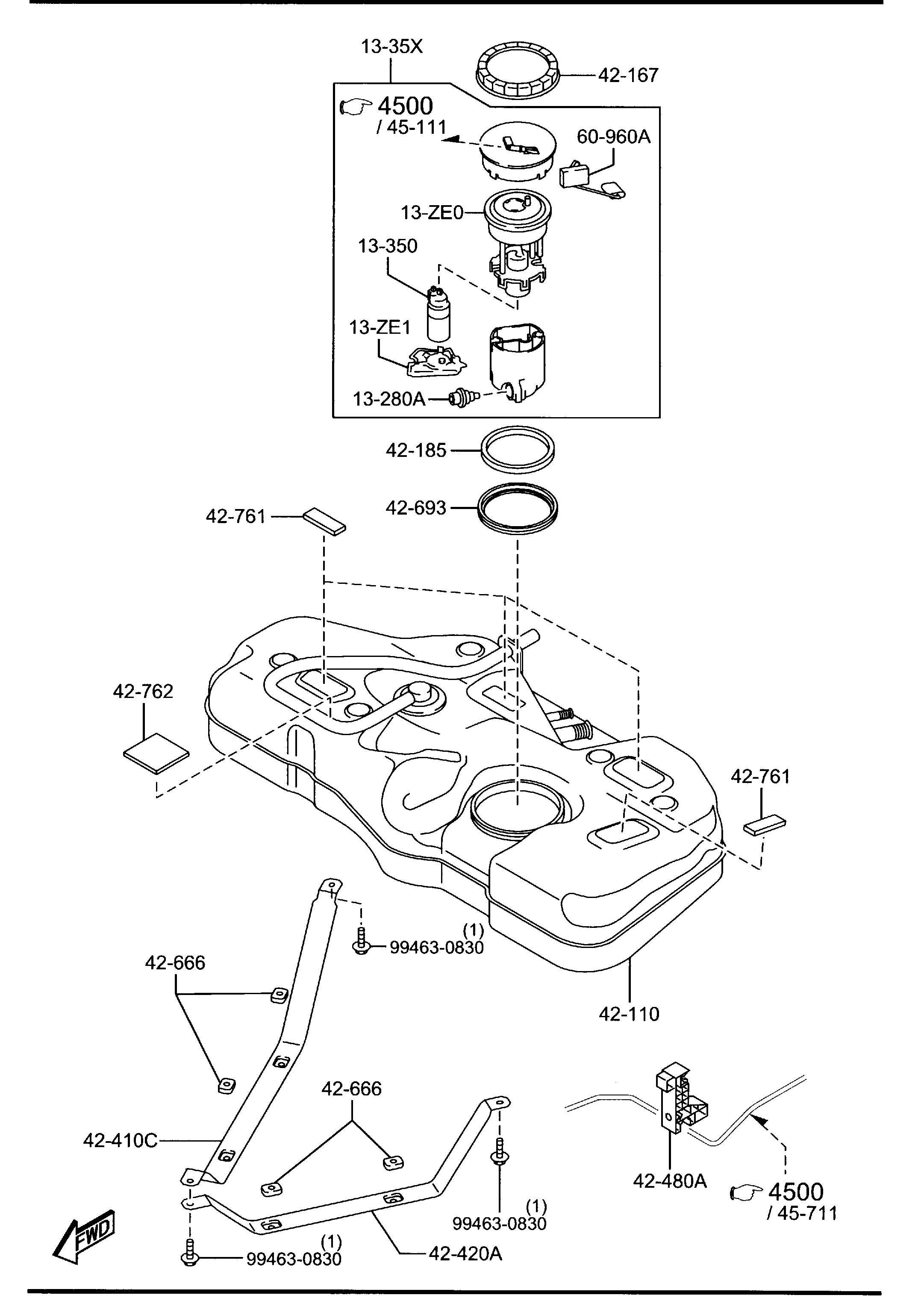 Mazda Mazda 2 Body Fuel Filter