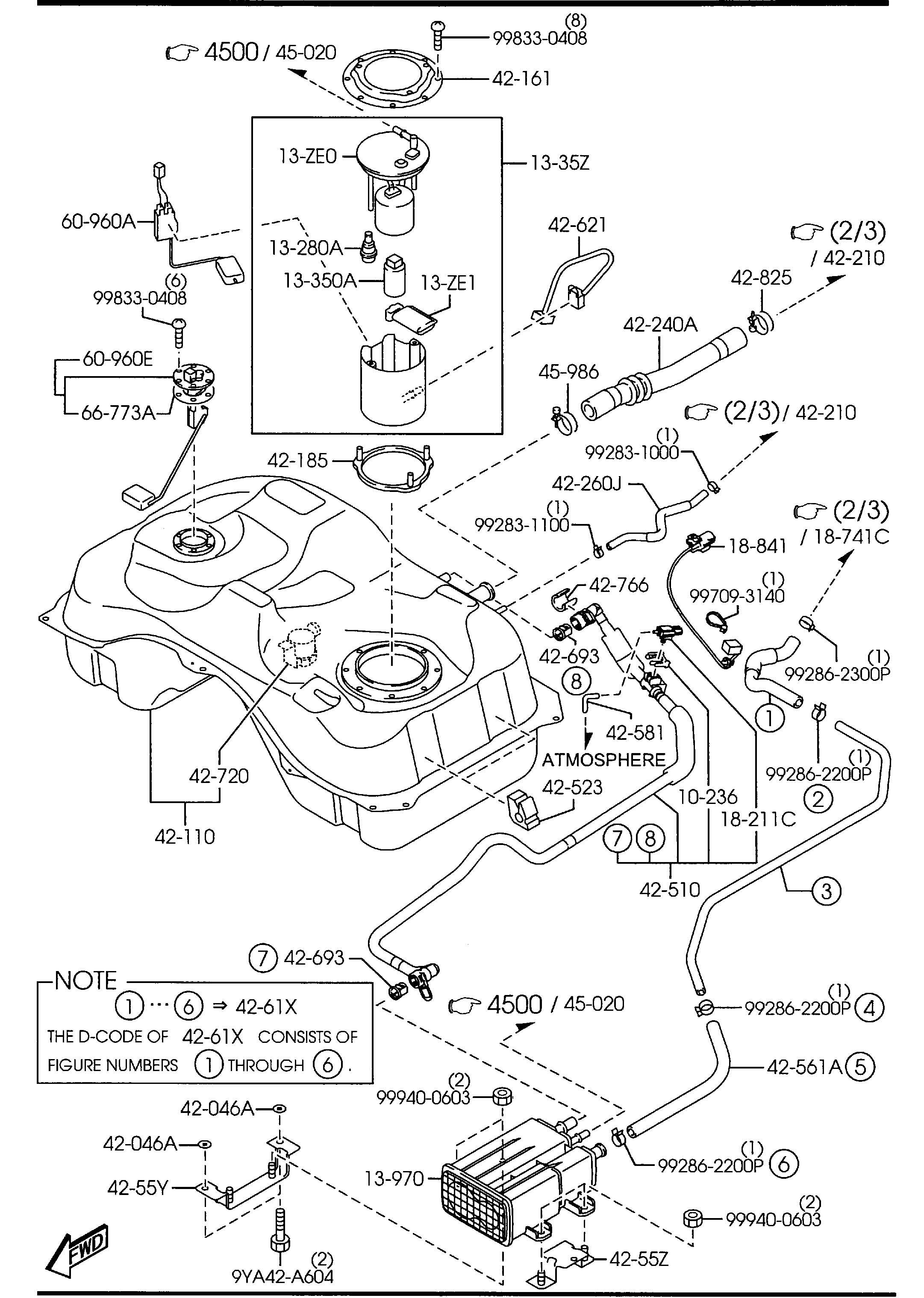 Mazda Fuel Tank