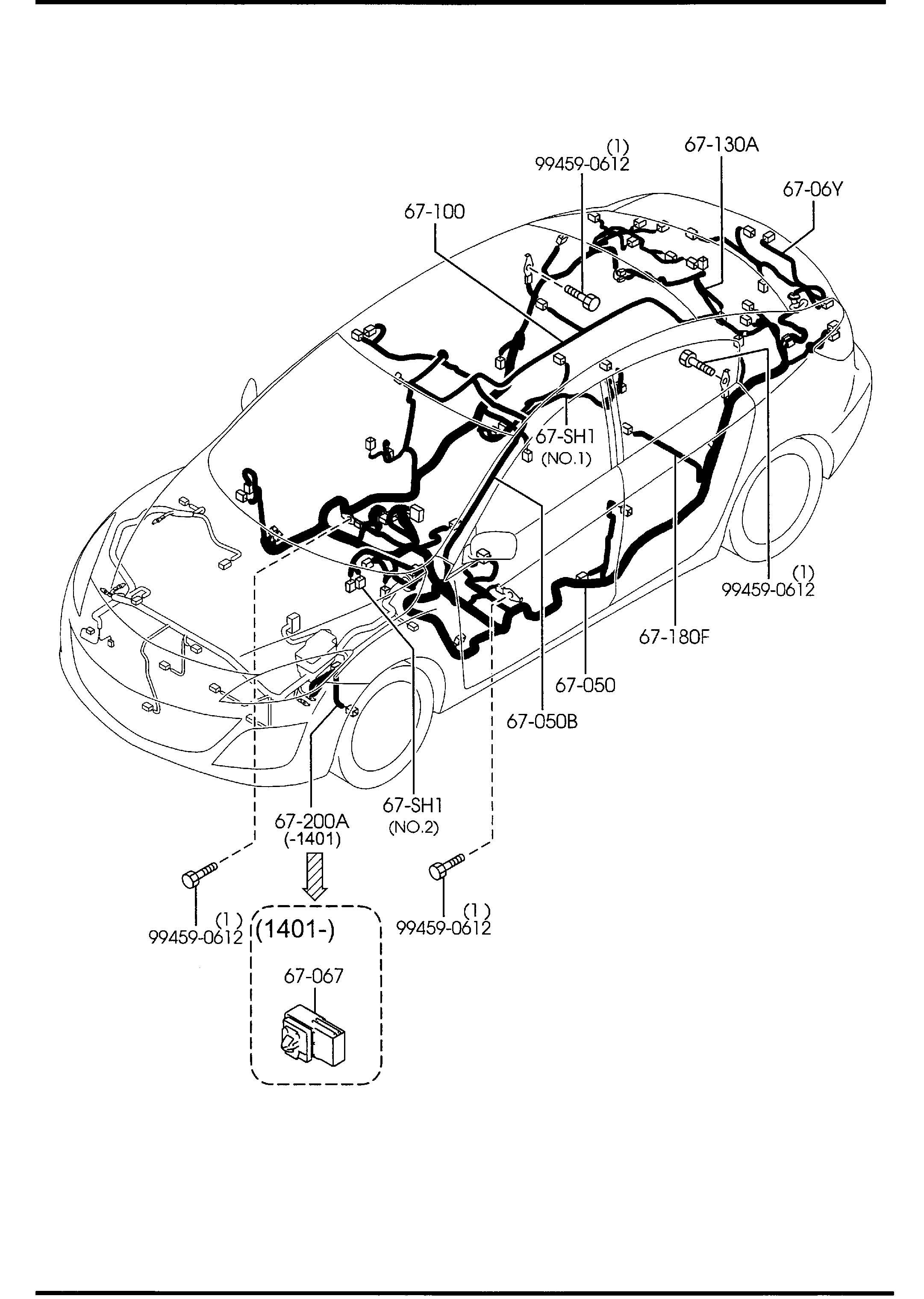 Mazda Mazda 3 Relay N O Horn Tail Revlp