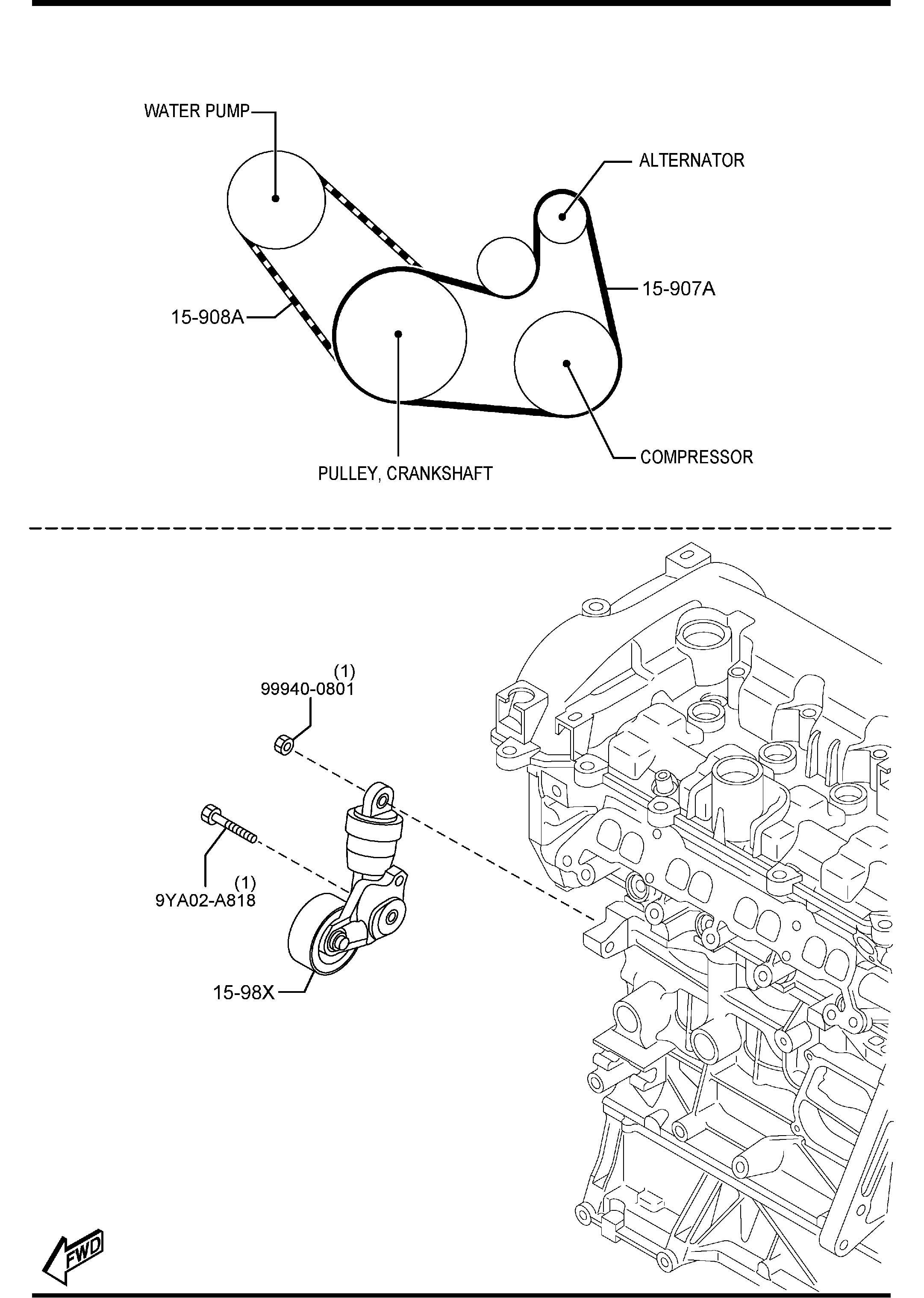 Mazda 3 Skyactiv 2 0 Need Help Finding Serpentine