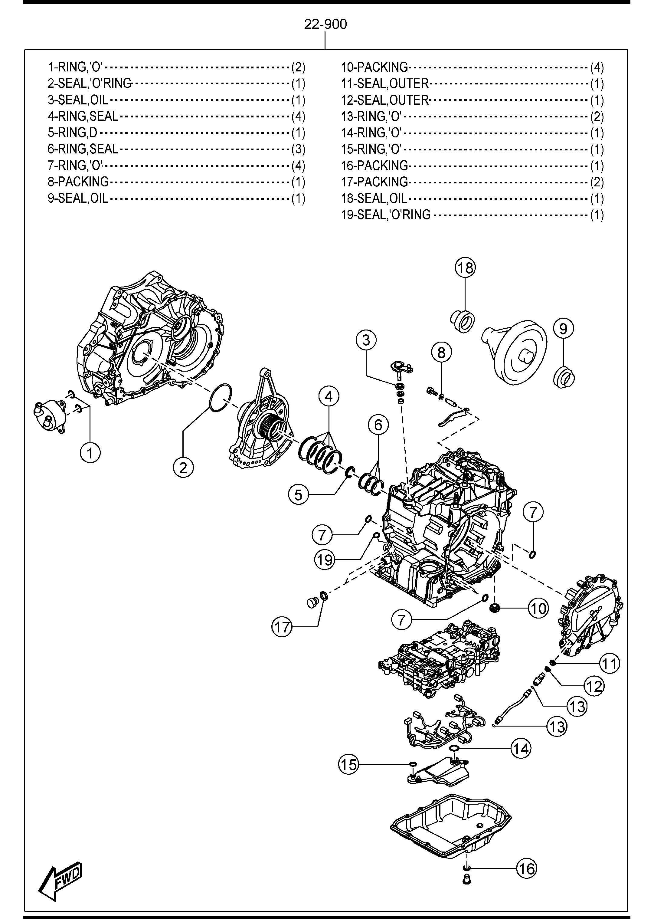 Mazda 3 Automatic Transmission Gasket Amp Seal Kit 6 Speed