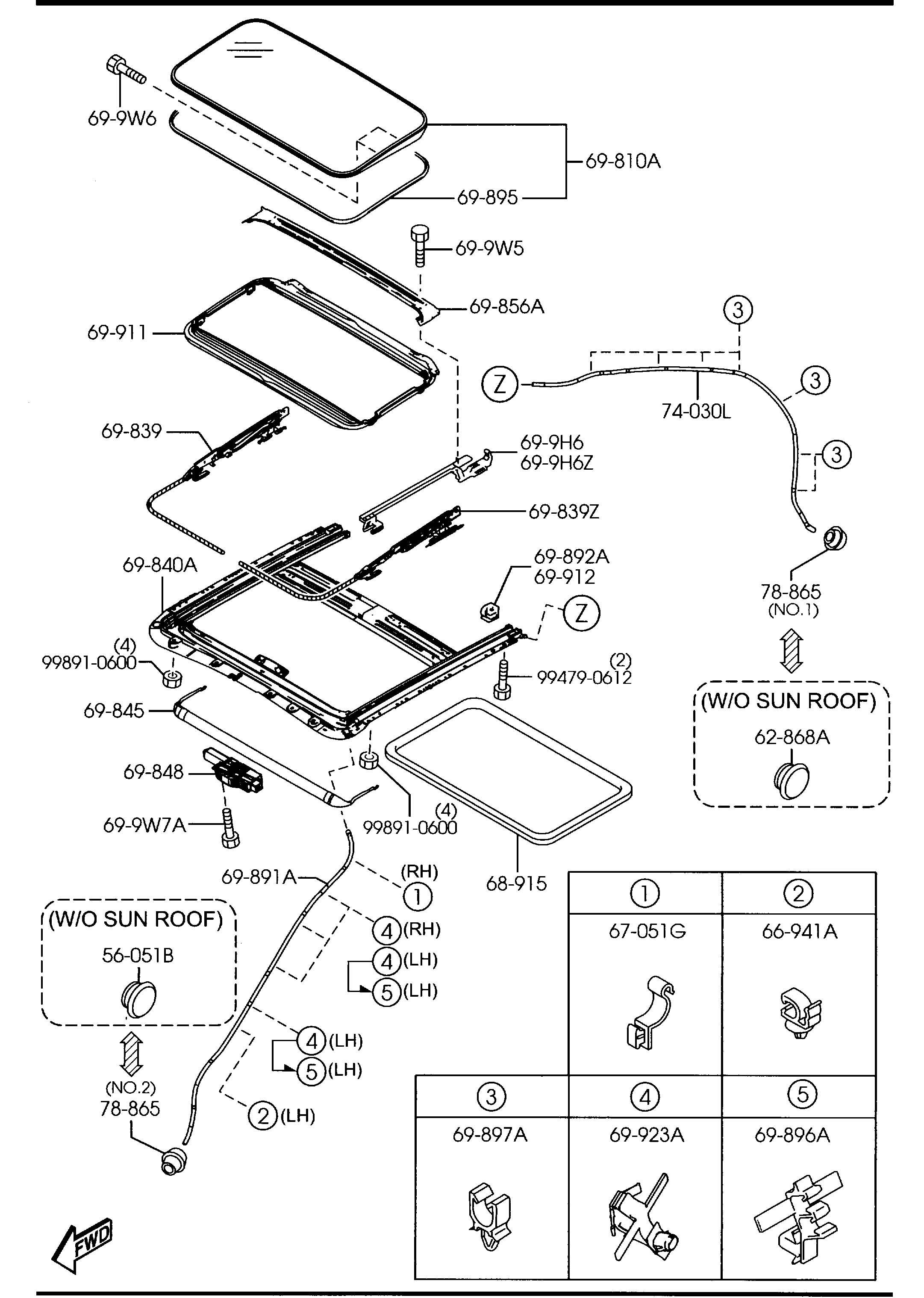 Mazda Parts Schematics
