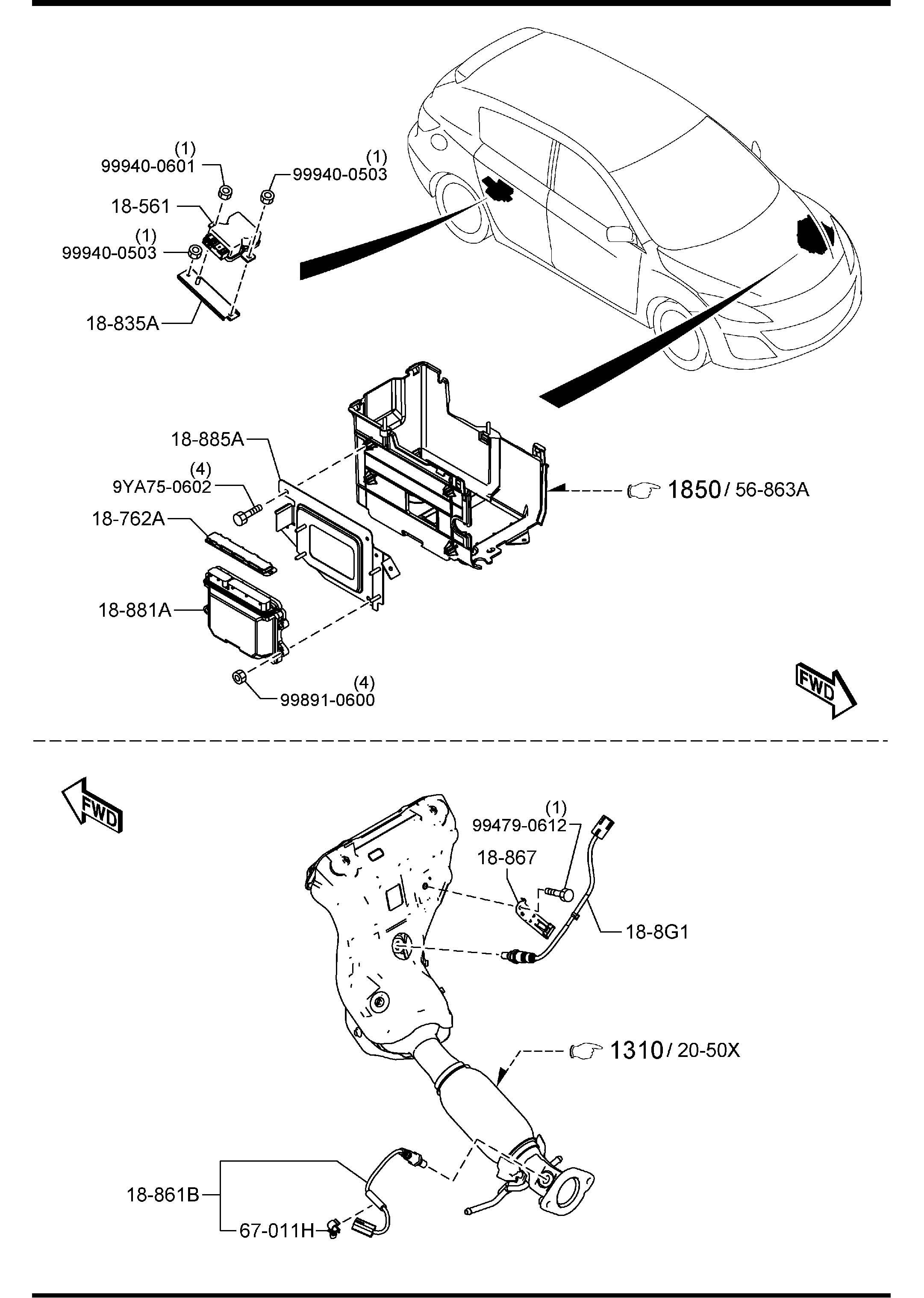 Mazda Mazda 3 Oxygen Sensor