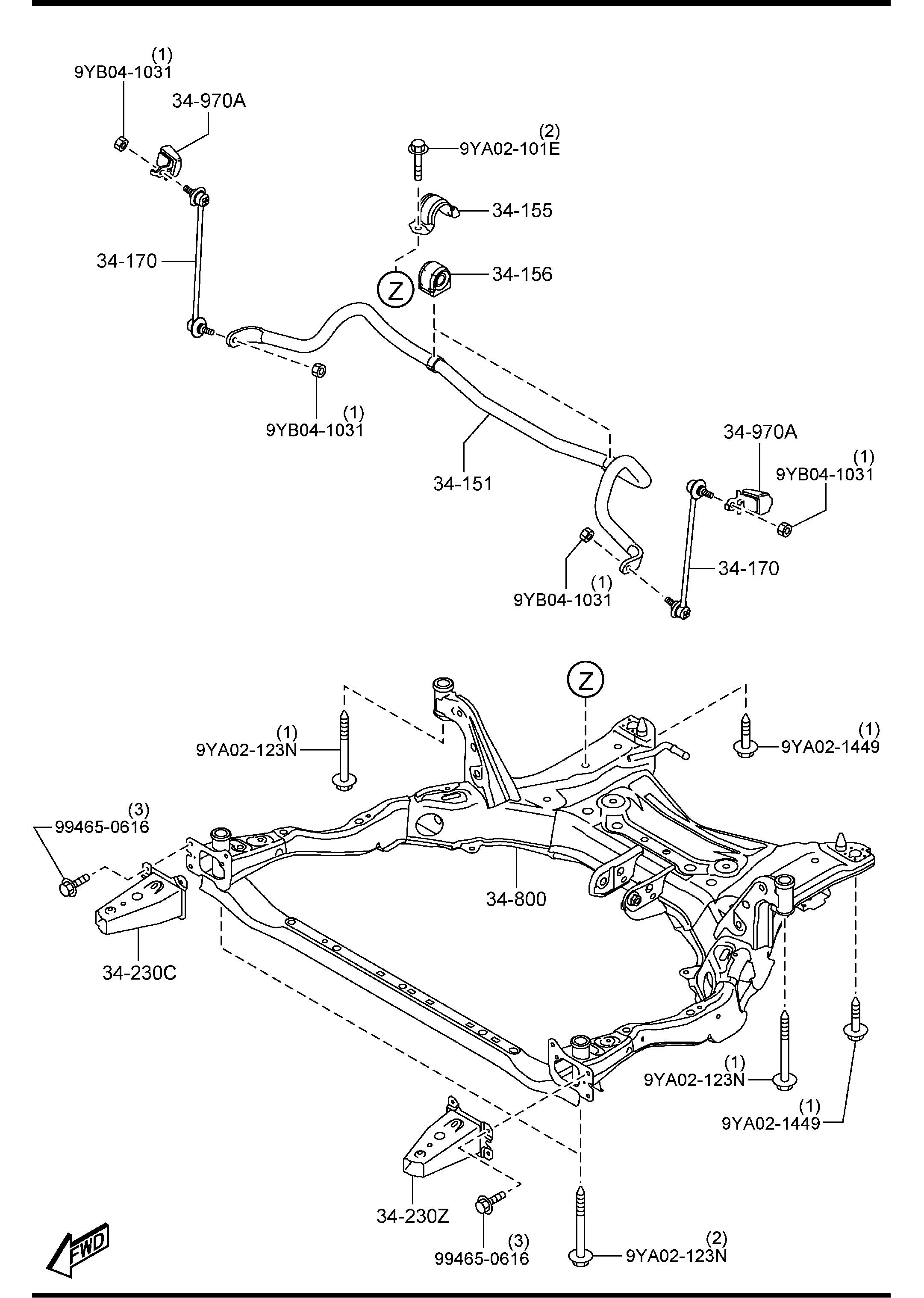 Mazda Mazda 6 Bracket