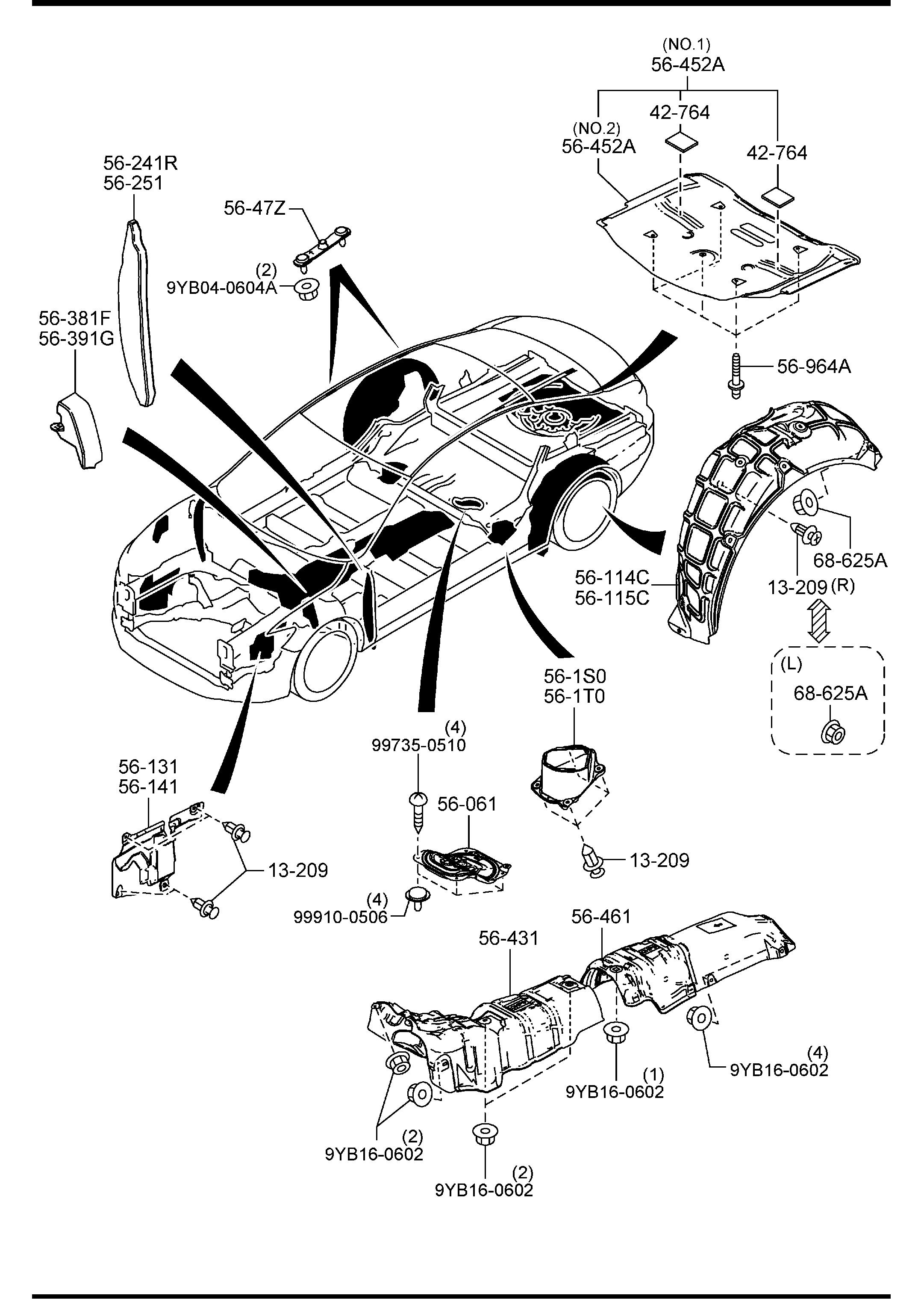 Mazda Mazda 6 Fastener Led Closure Impact