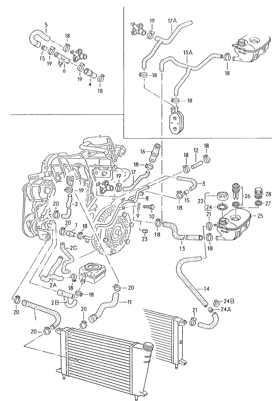 New Crp Industries Engine Coolant Hose Vw Jetta Cabrio