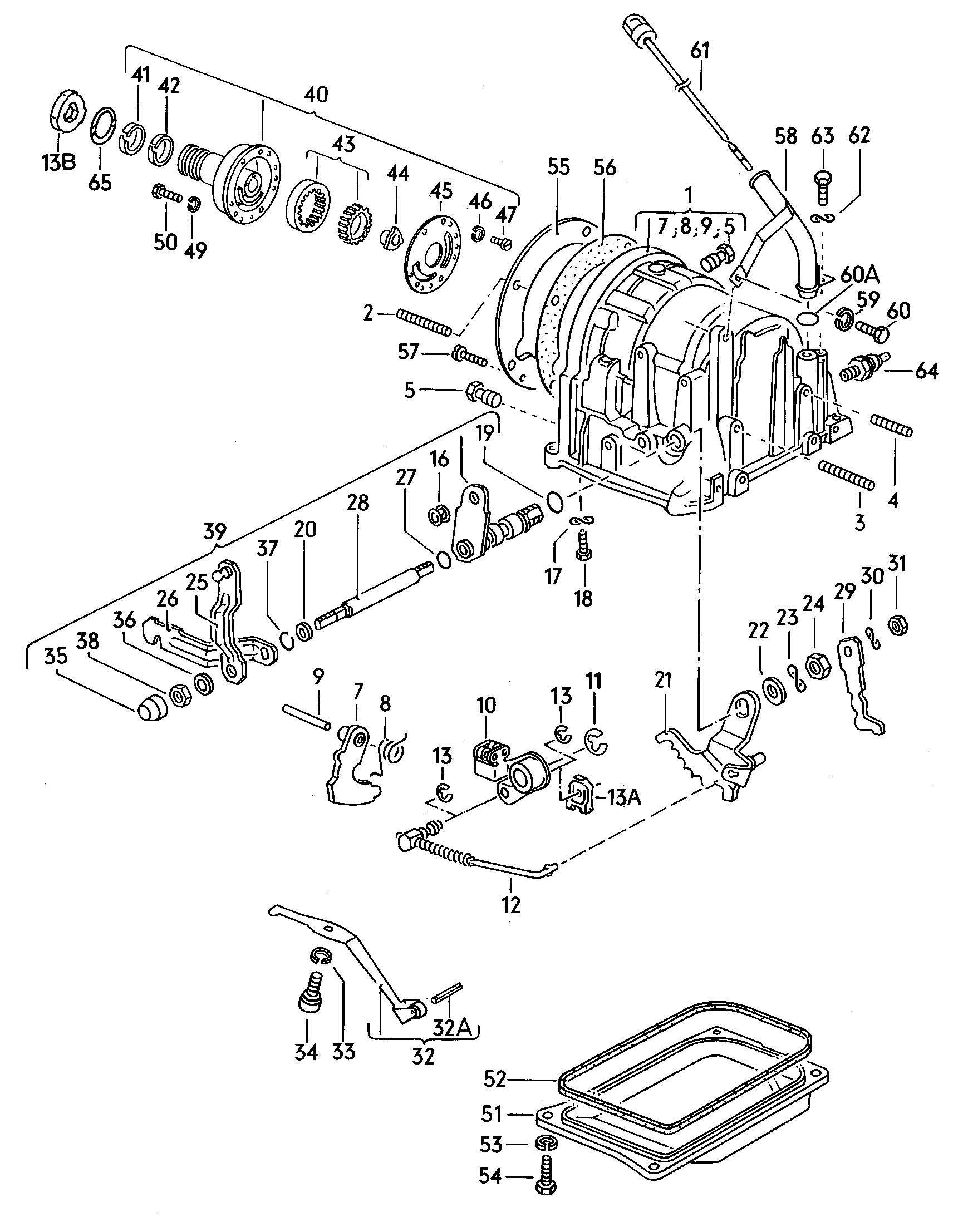 Volkswagen Jetta Transmission Case Automatic