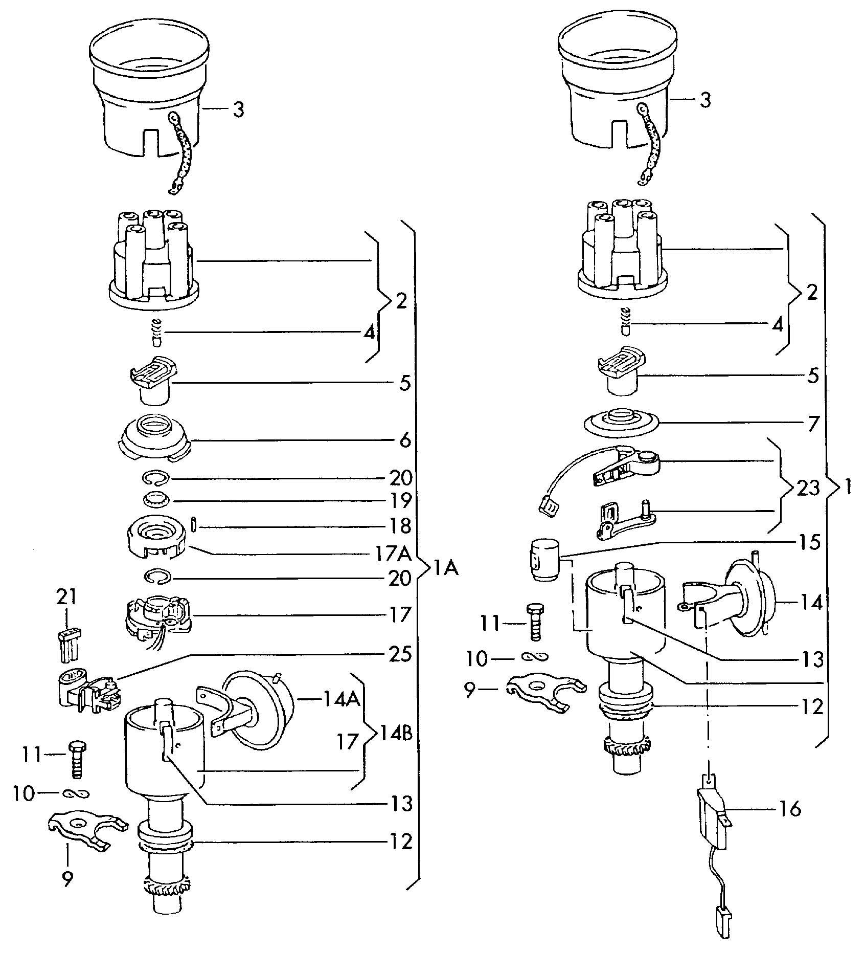 Volkswagen Jetta Distributor Cap For Distributor