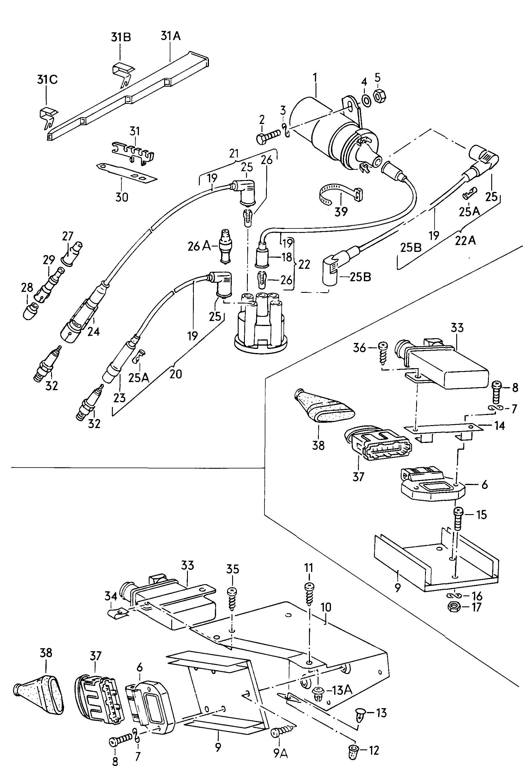 Volkswagen Cabrio Cabriolet Ignition Transformer