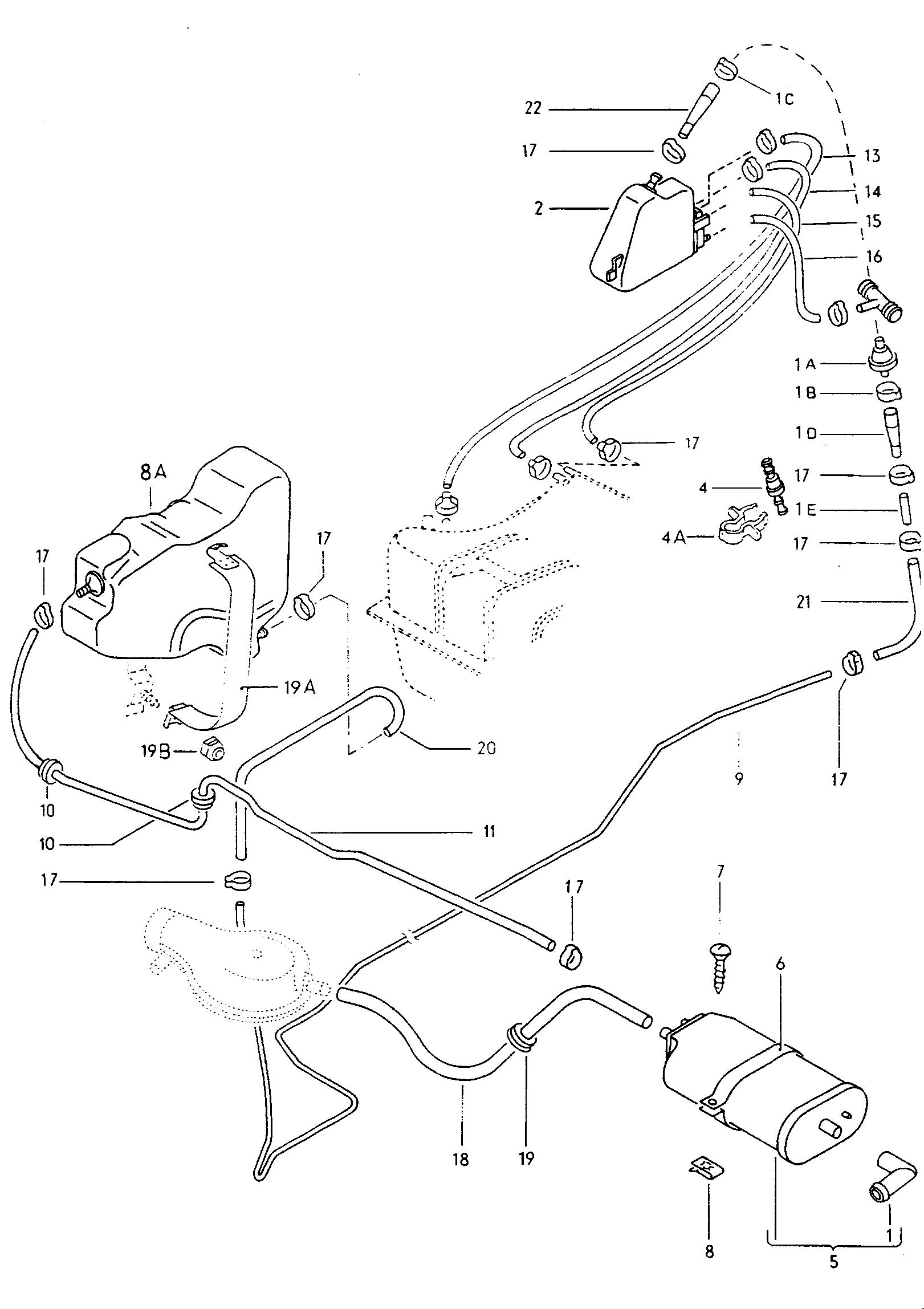 Volkswagen Thing Evaporative Emission Canister Fuel Trap