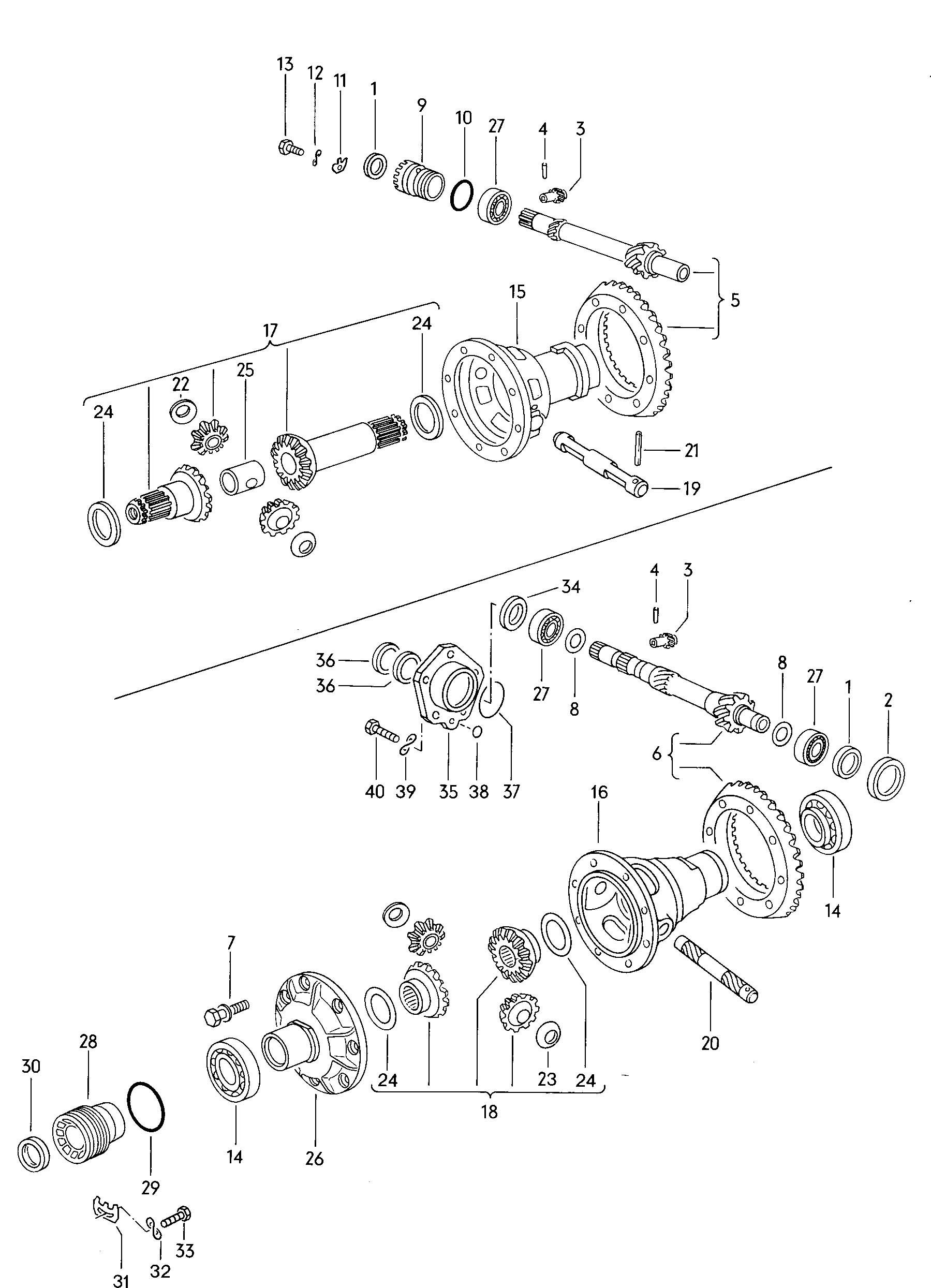 Volkswagen Type 2 Differential 3 Speed Automatic Transmission