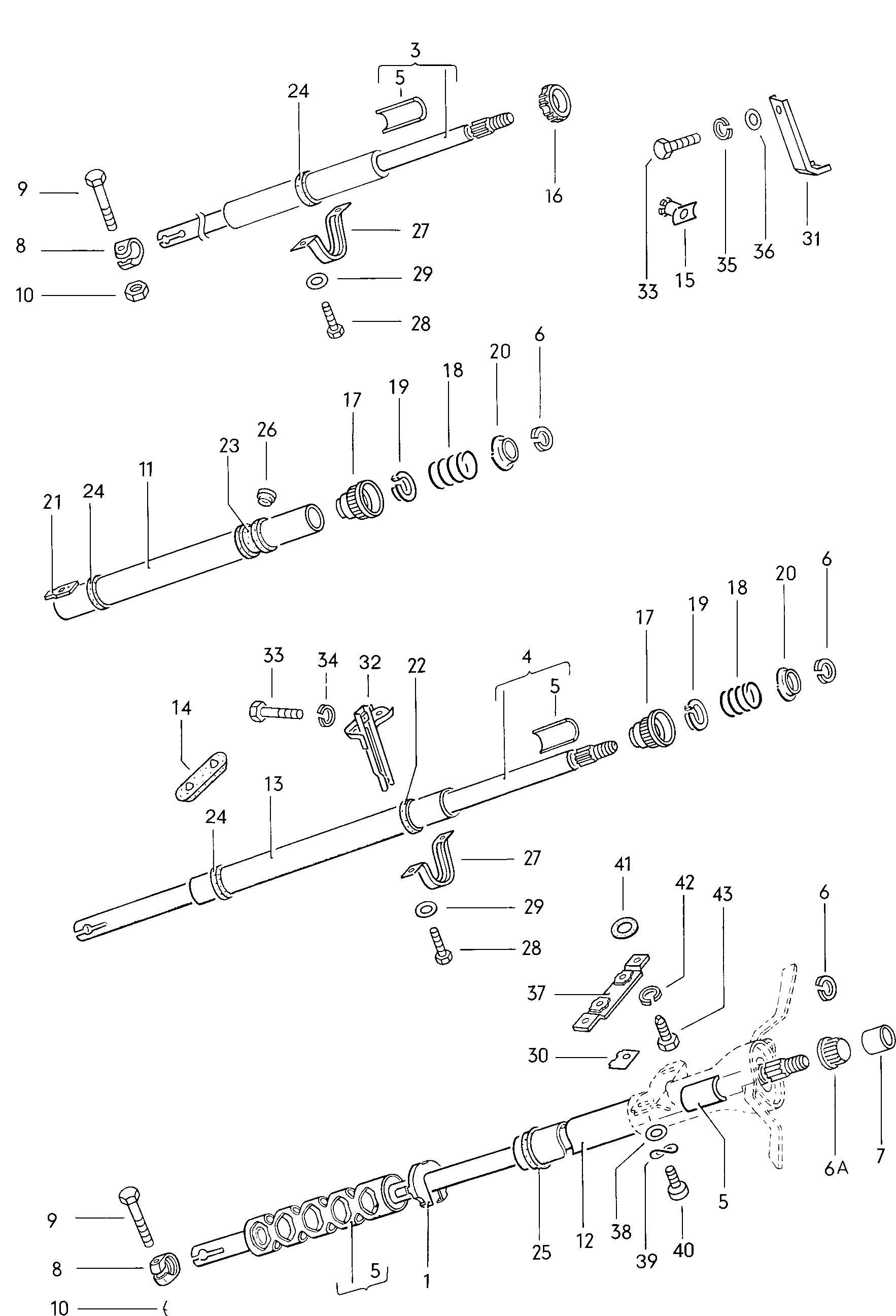 Volkswagen Ghia Steering Column Steering Column Tube
