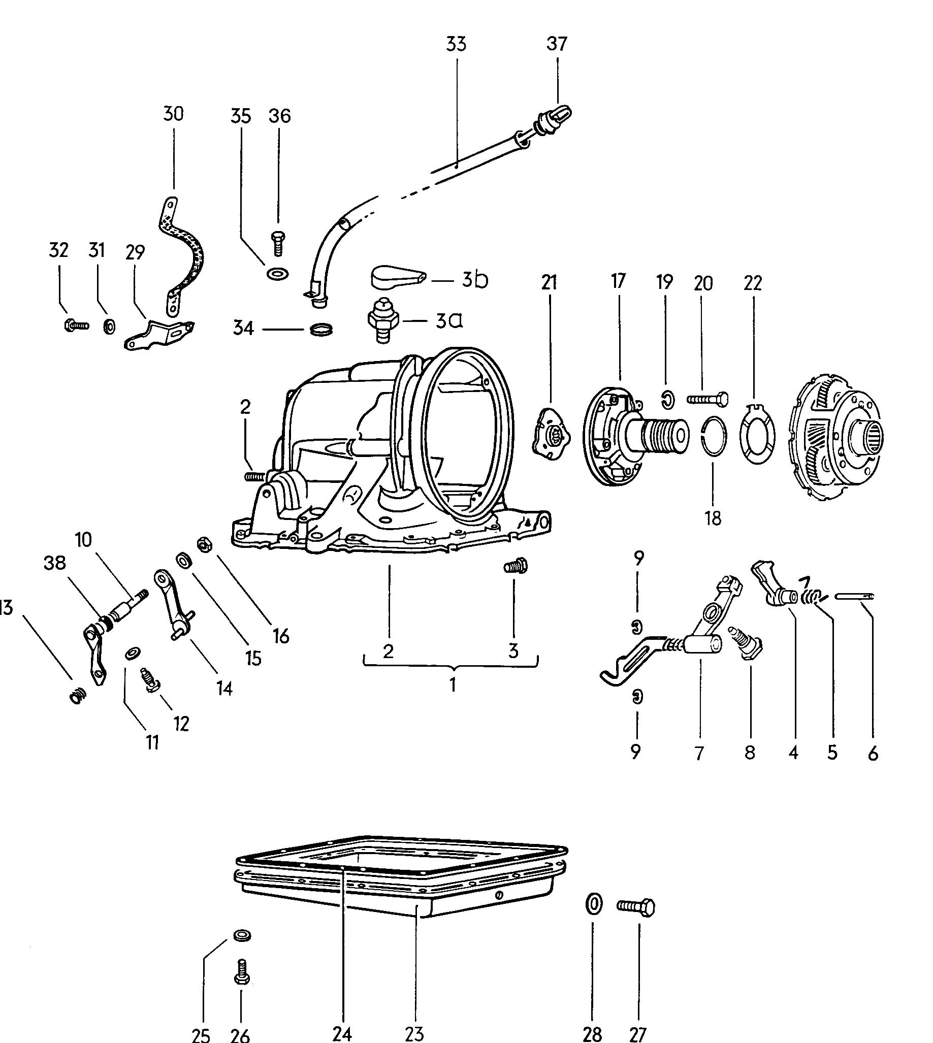 Volkswagen Type 4 Transmission Case For Automatic Transmission
