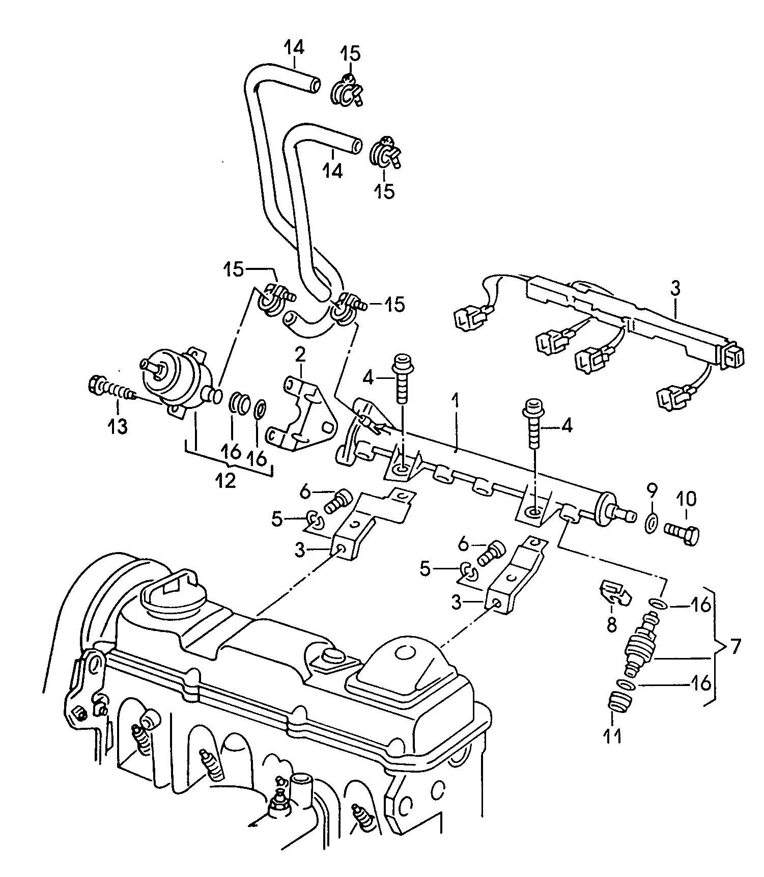 Volkswagen Fuel Rail Injector