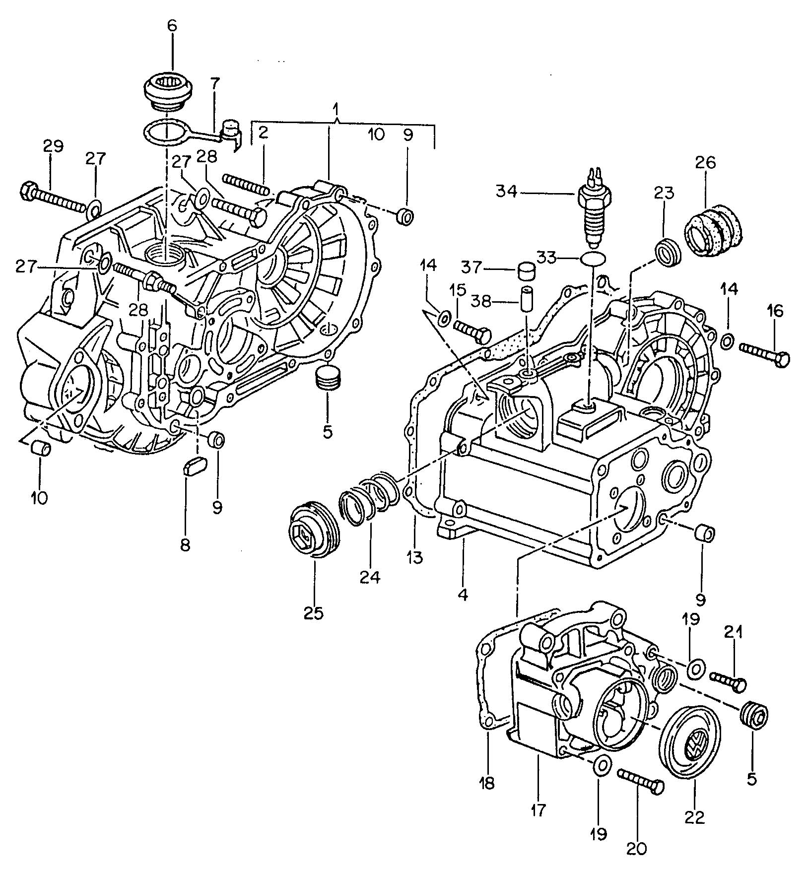 Volkswagen Jetta Transmission Case Transmission Housing