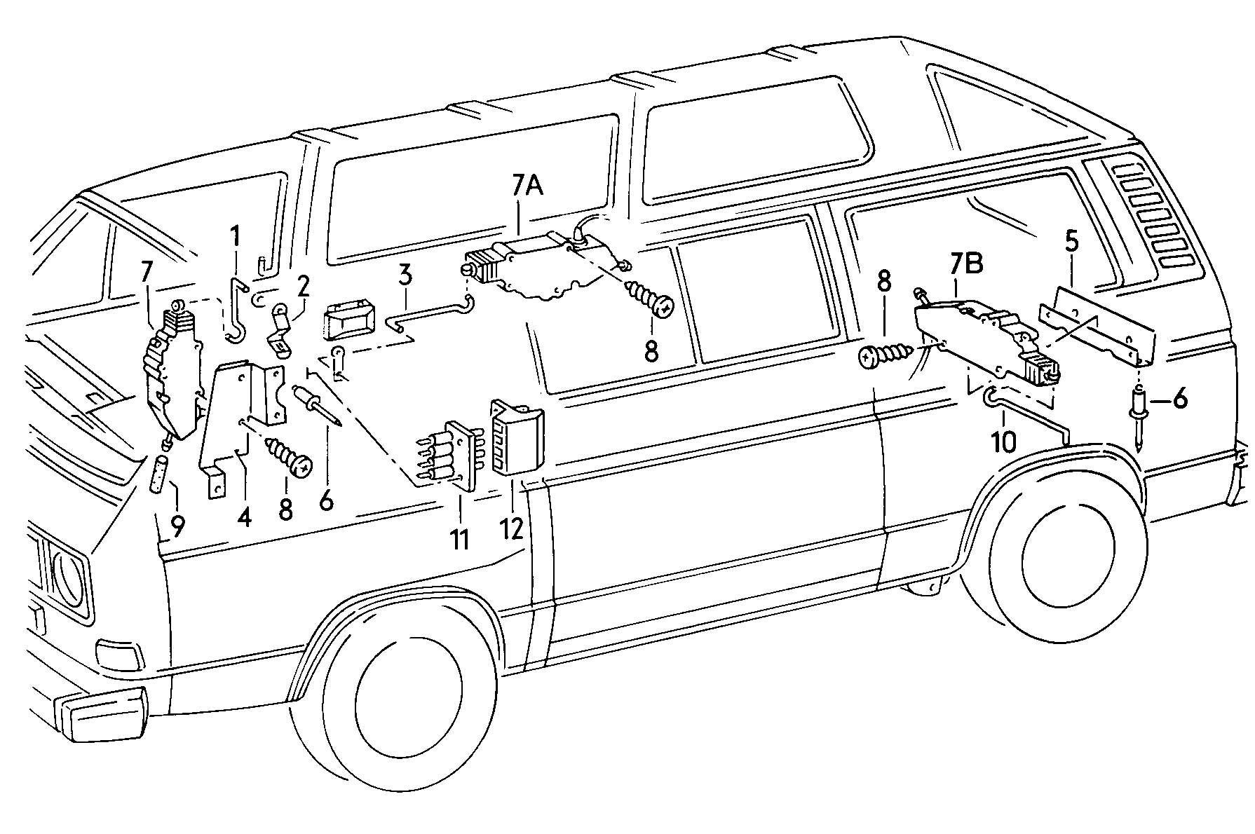 Volkswagen Vanagon Syncro Central Locking System