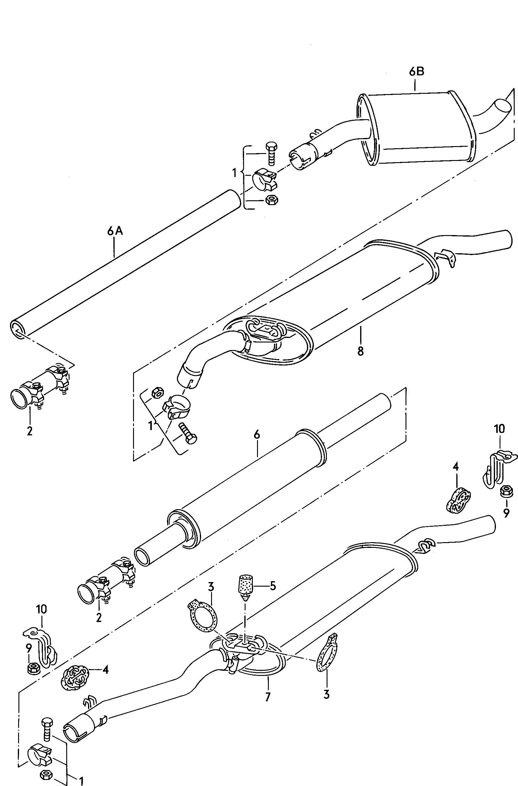 Volkswagen Jetta Dual Clamp Dual Clip Clip Atq