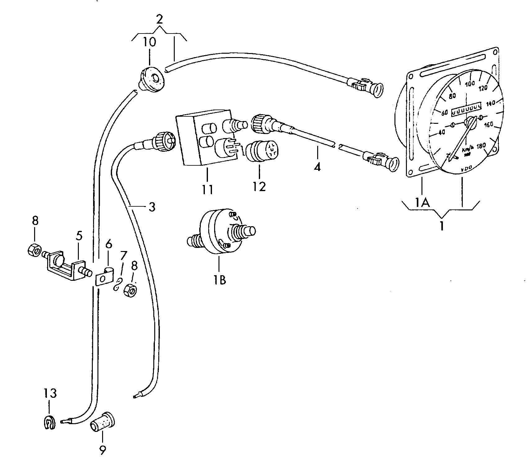 Volkswagen Eurovan Grommet Drive Cable Speedometer