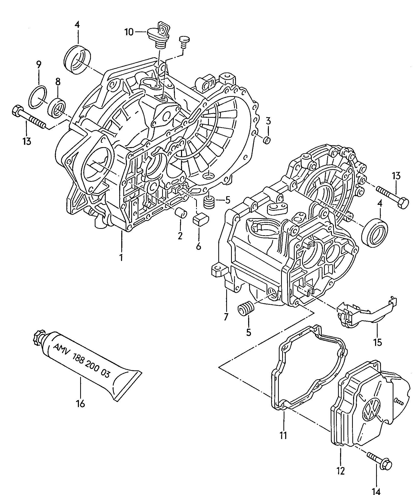 Volkswagen Passat Plug Drain Plug Insert Screw Stop