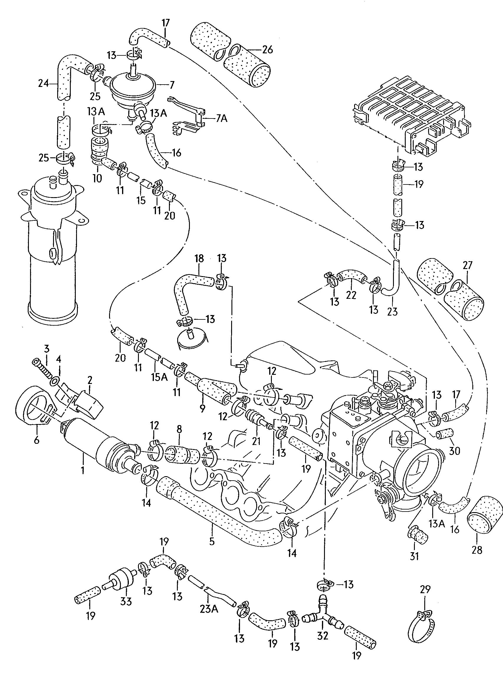 Volkswagen Passat Syncro Connecting Hose Also Use