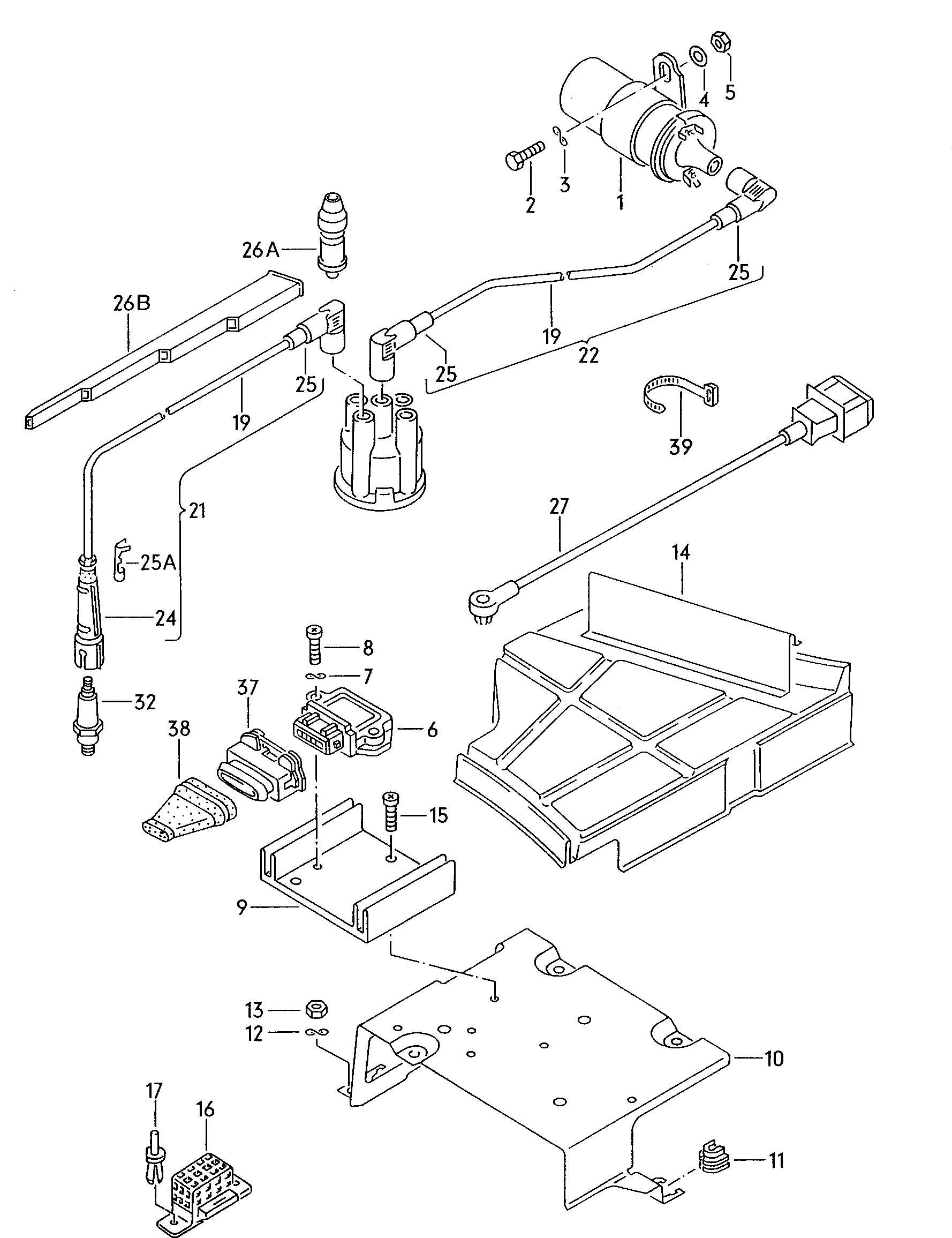 Volkswagen Jetta Transistor Coil Ignition Unit Switch