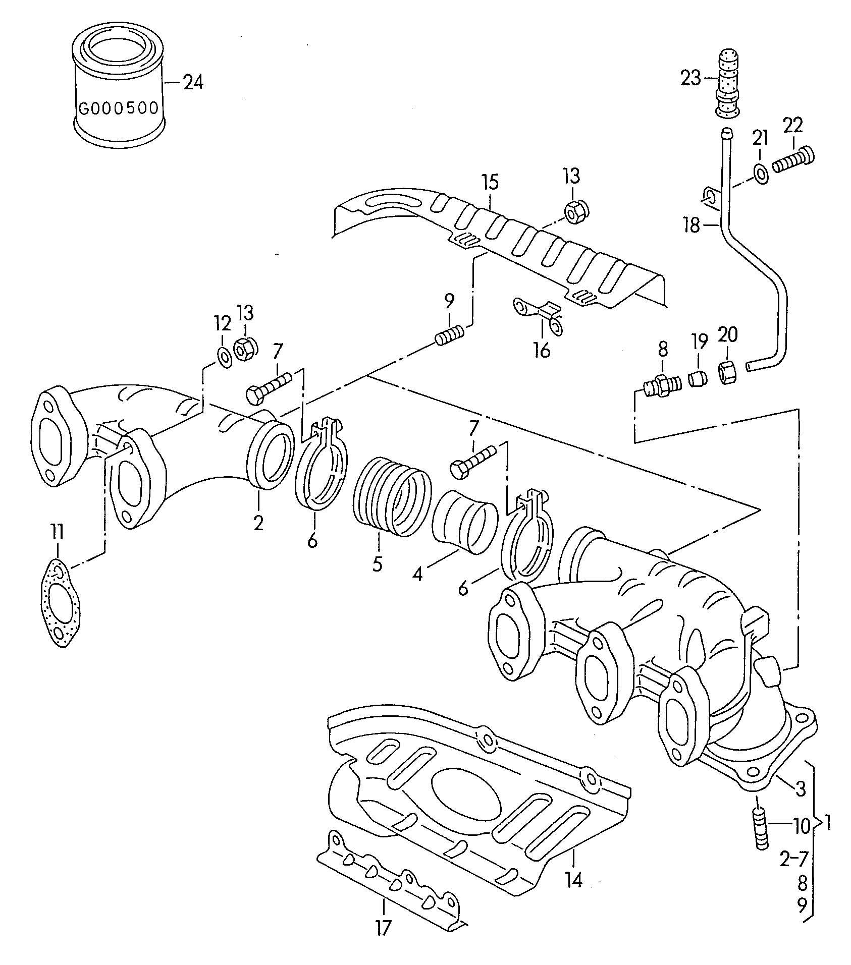 Volkswagen Eurovan Exhaust Manifold