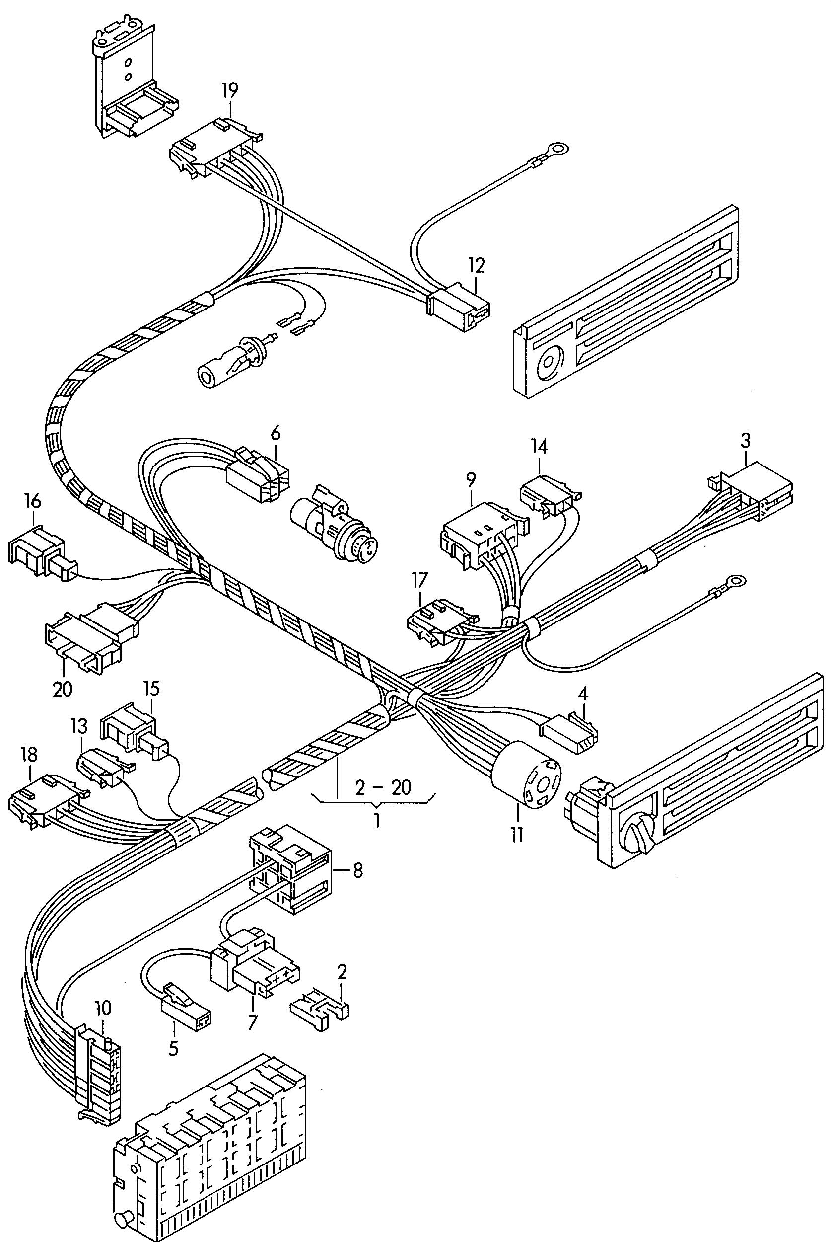 Volkswagen Eurovan Air Condit Adapter Wiring Harness