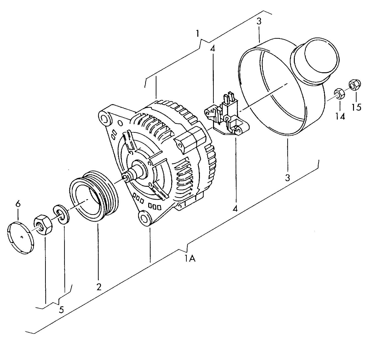 Volkswagen New Beetle Convertible 1 8l Turbo Alternator